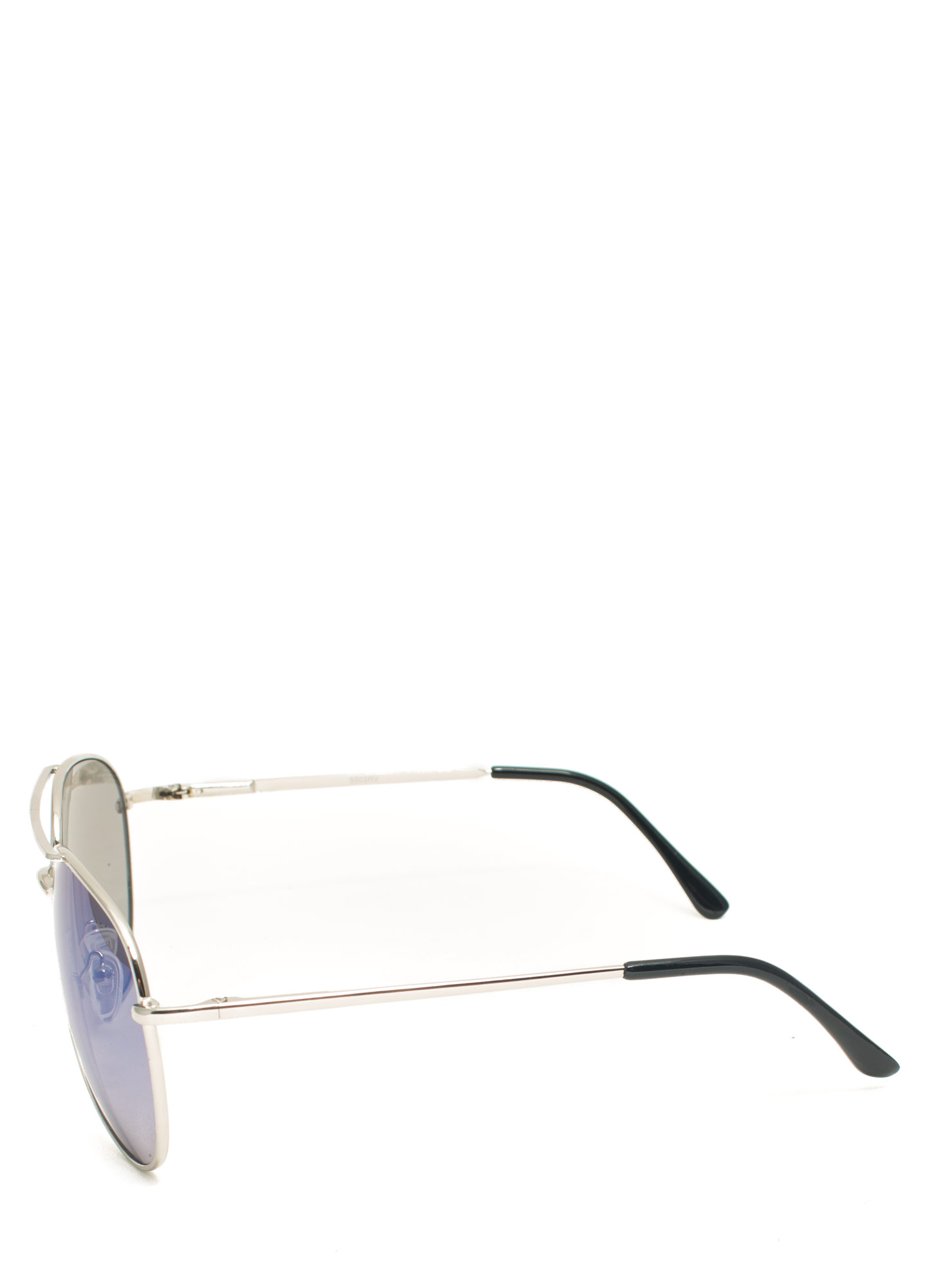 Reflecting Pool Aviator Sunglasses BLUESILVER