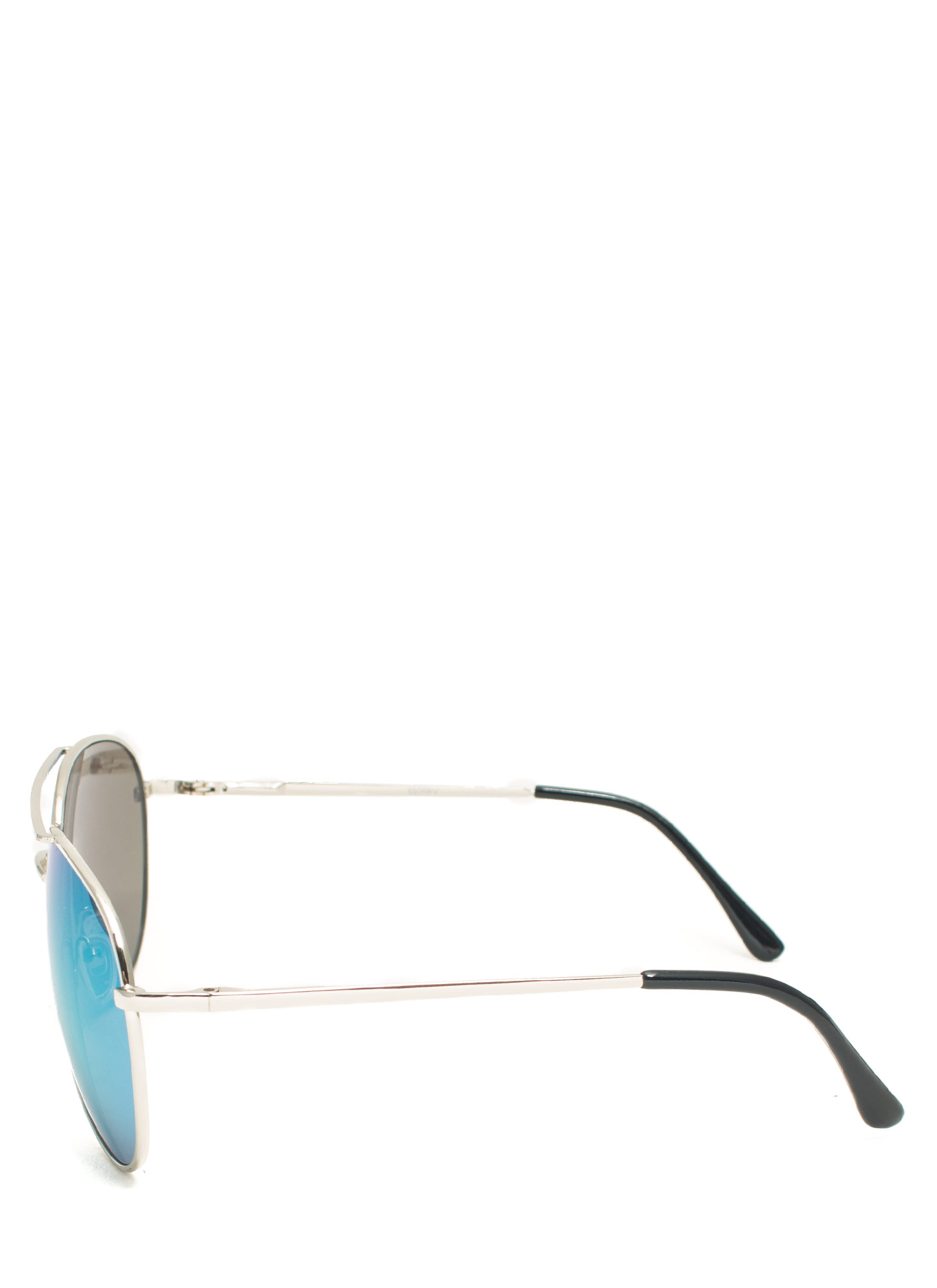 Reflecting Pool Aviator Sunglasses GREENSILVER