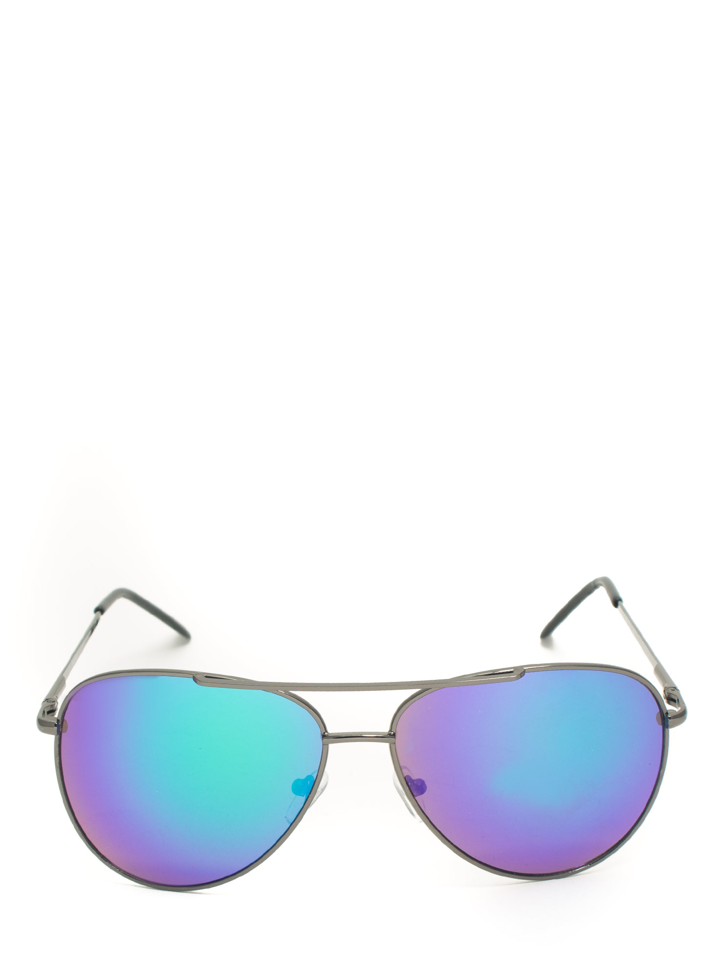 Reflecting Pool Aviator Sunglasses TEALBLACK