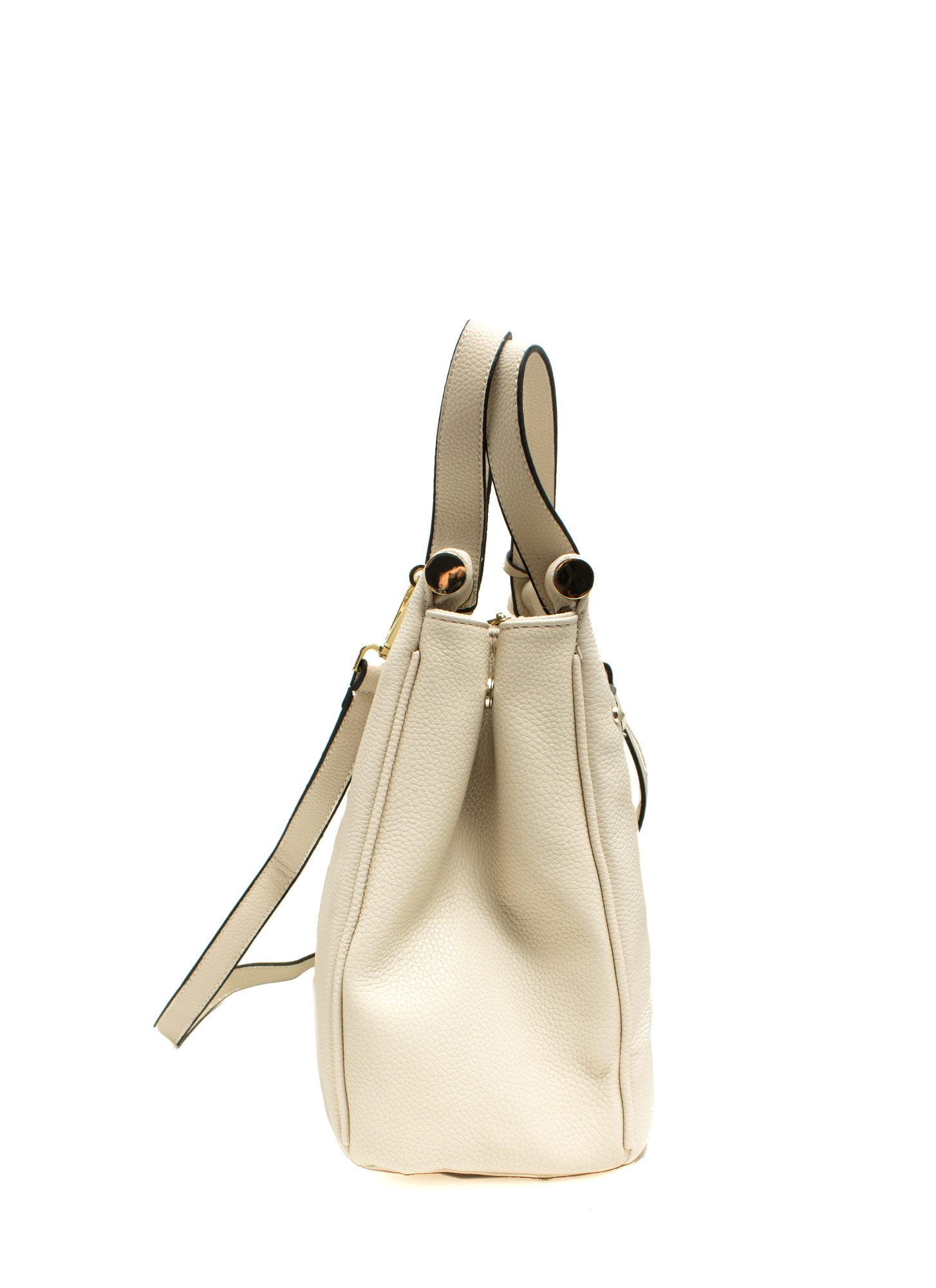 Under Lock N Key Structured Bag WHITE