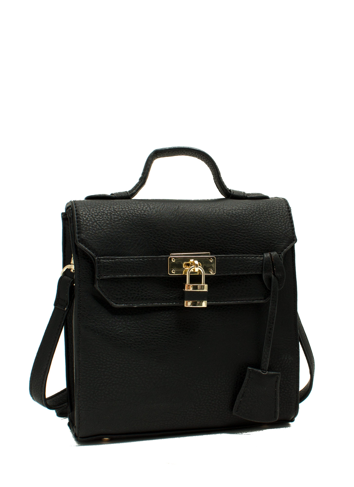 Under Lock N Key Crossbody Bag BLACK