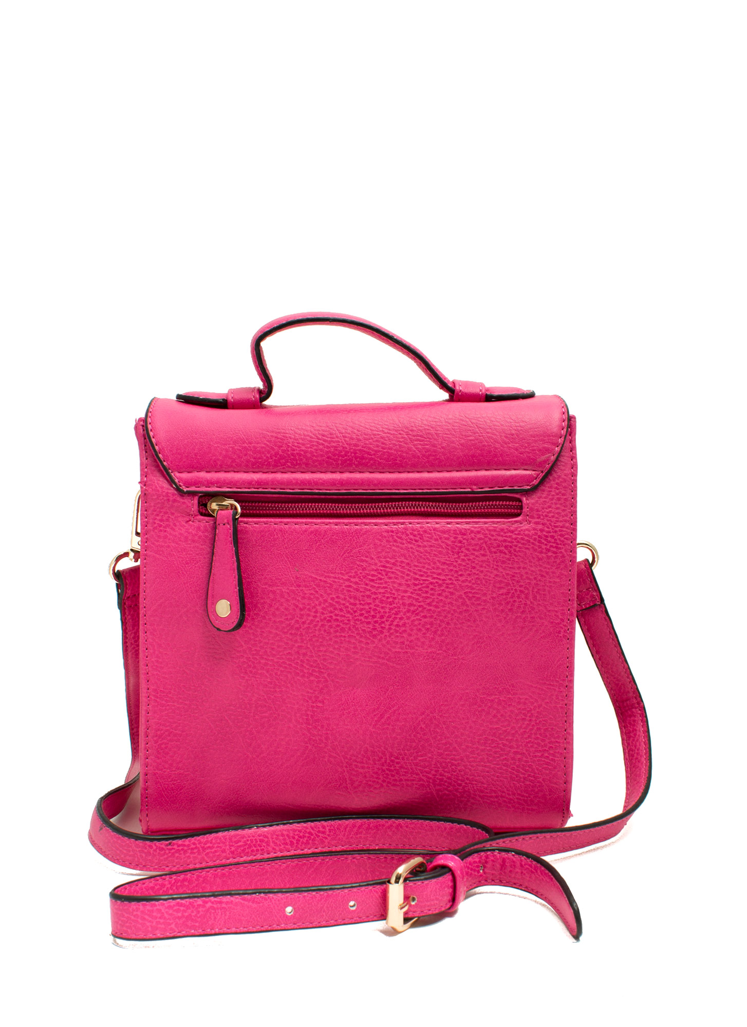 Under Lock N Key Crossbody Bag FUCHSIA