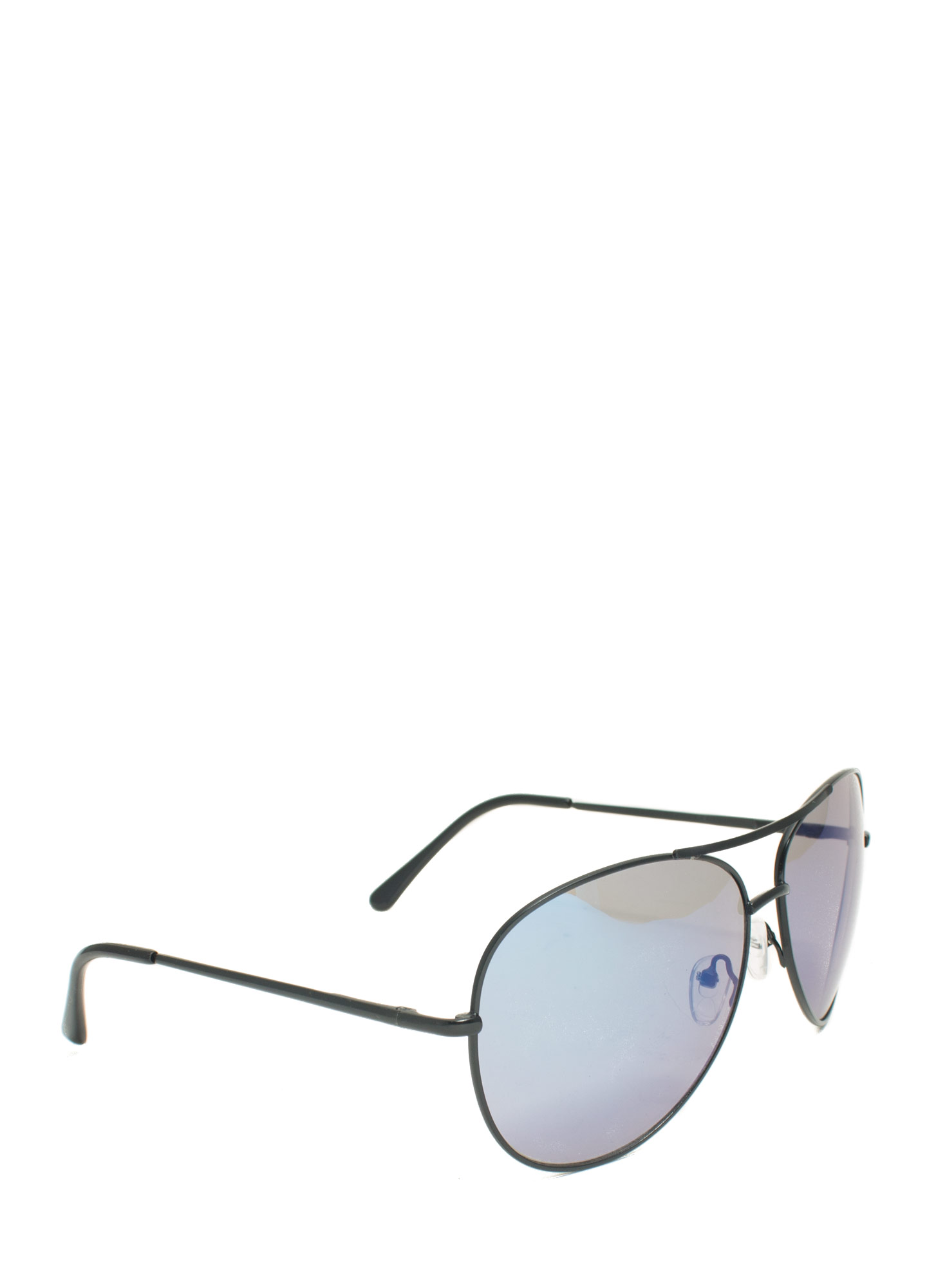 Holographic Projection Aviator Sunglasses BLUEMBLACK