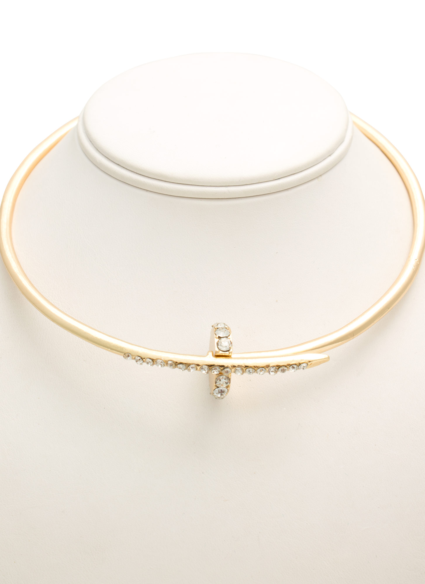 Embellished Nail Choker Set GOLD