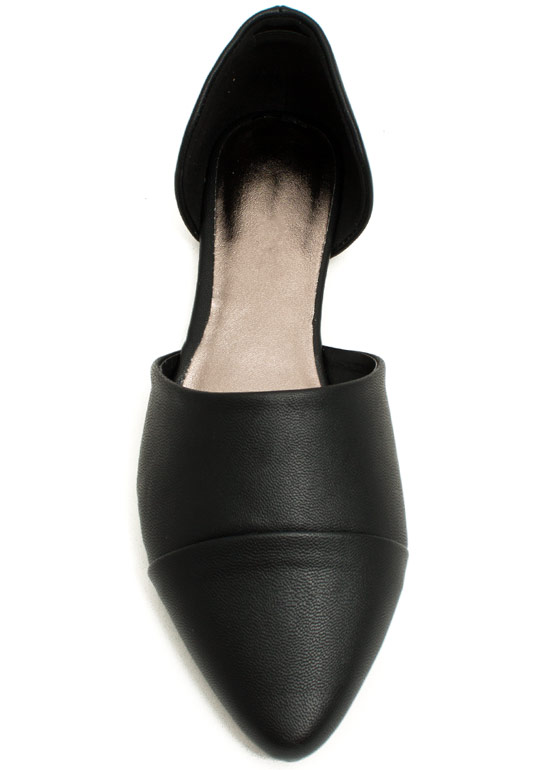 Take A Chic Break D'Orsay Flats BLACK