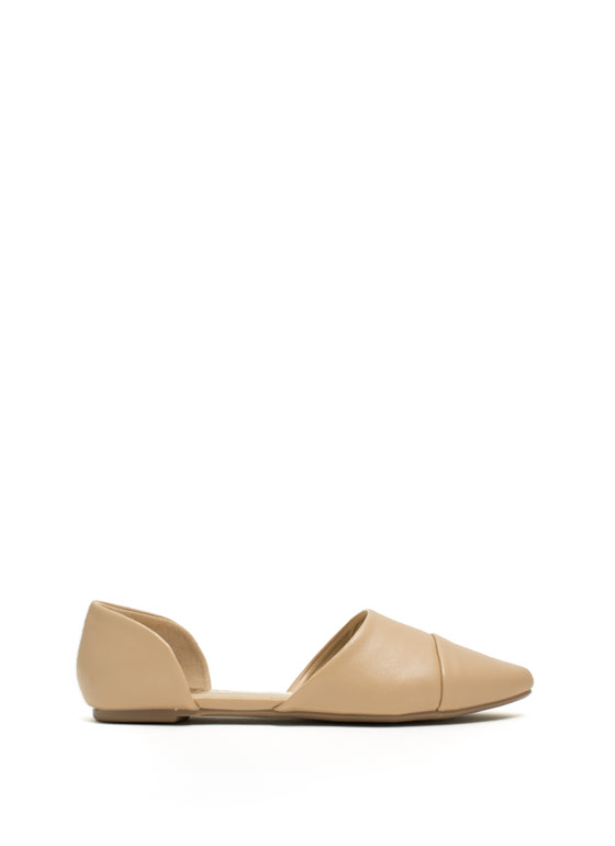 Take A Chic Break D'Orsay Flats NUDE