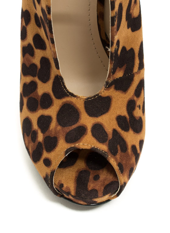 Take The Plunging Topline Booties LEOPARD
