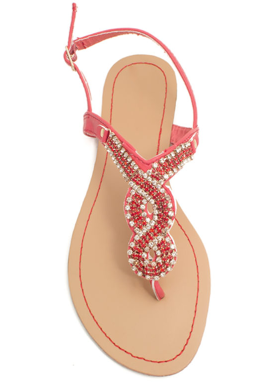 Embellished Figure 8 Sandals CAYENNE