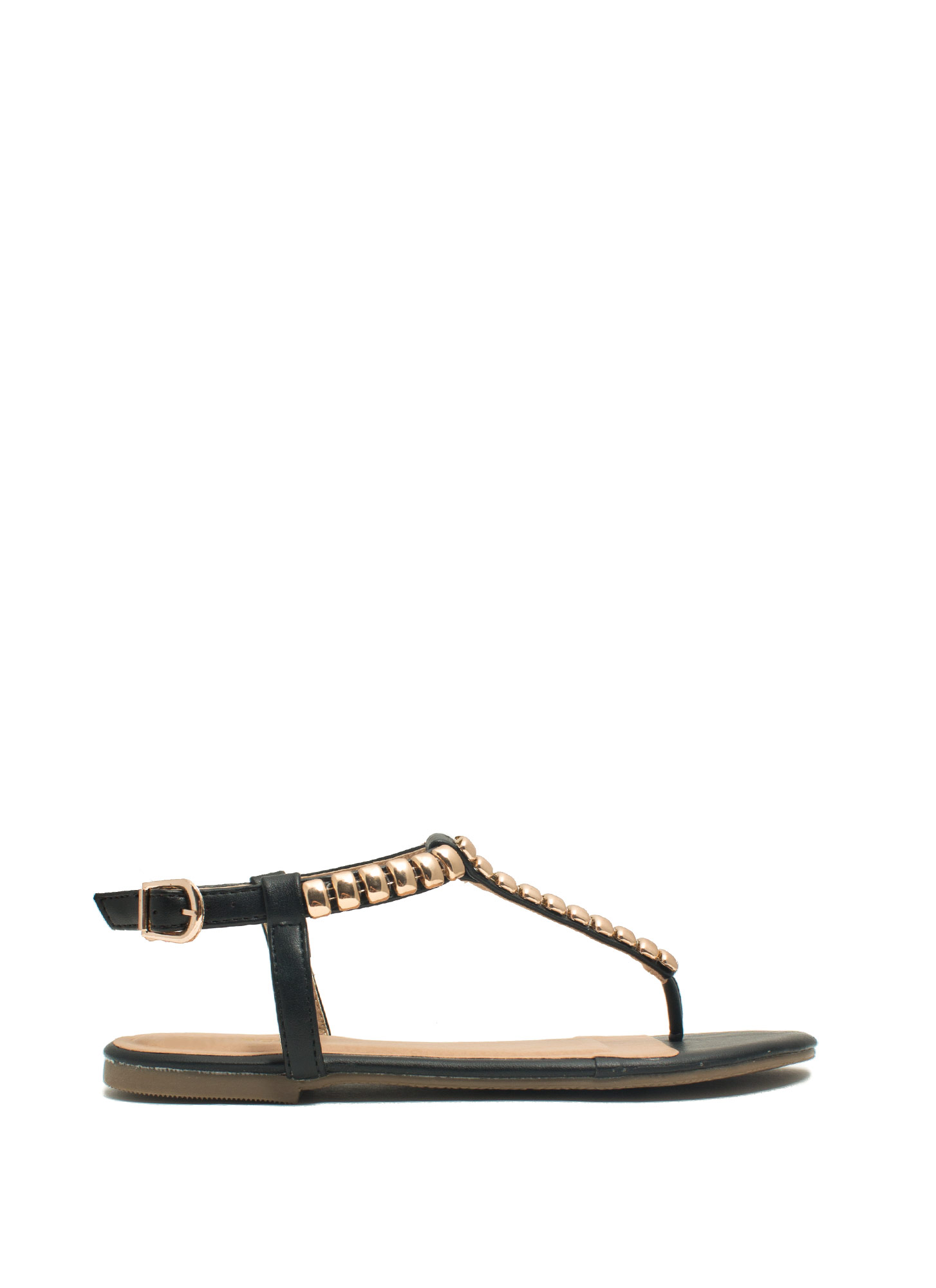 Tile Me Something Good Thong Sandals BLACK