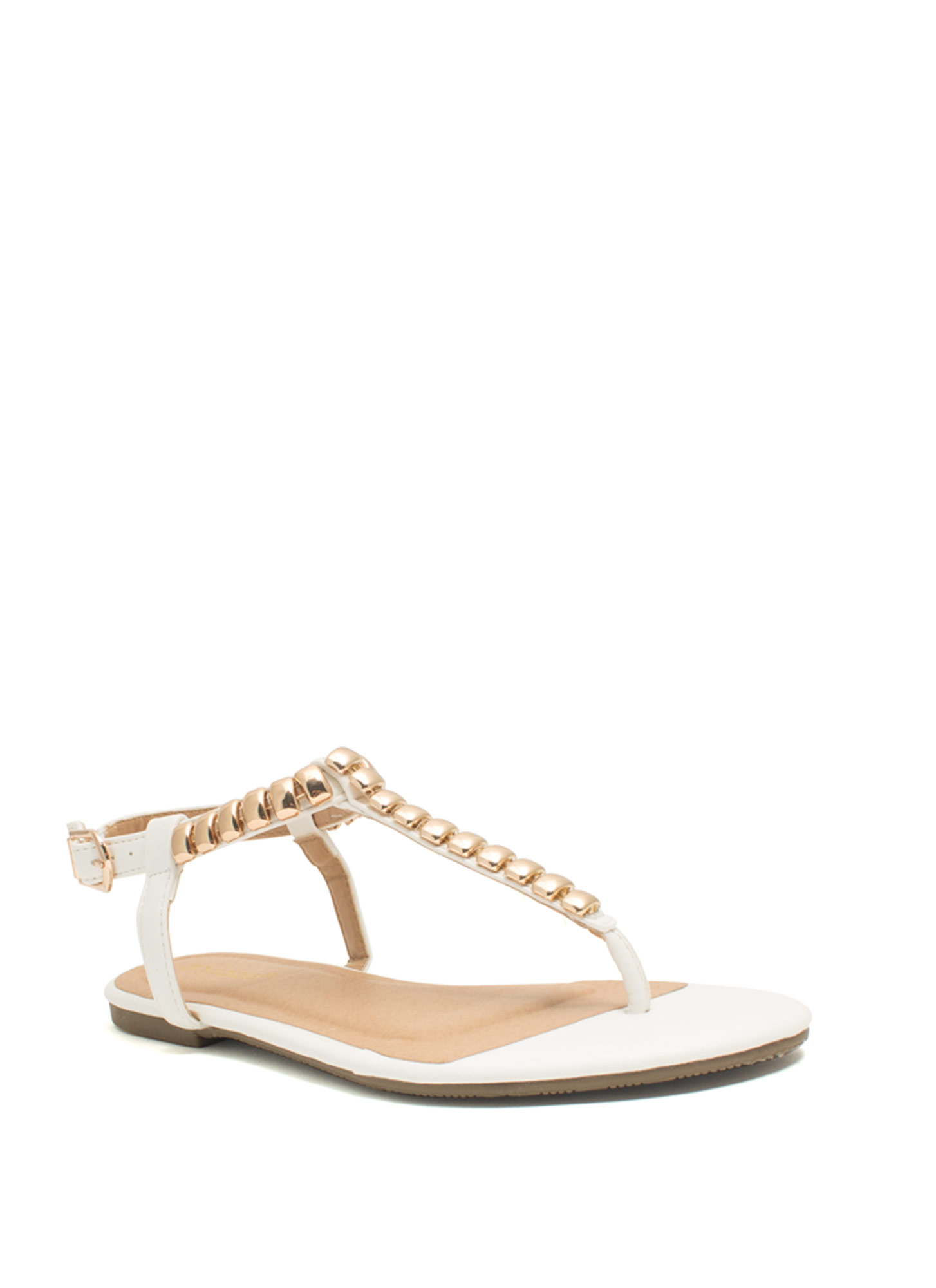 Tile Me Something Good Thong Sandals WHITE
