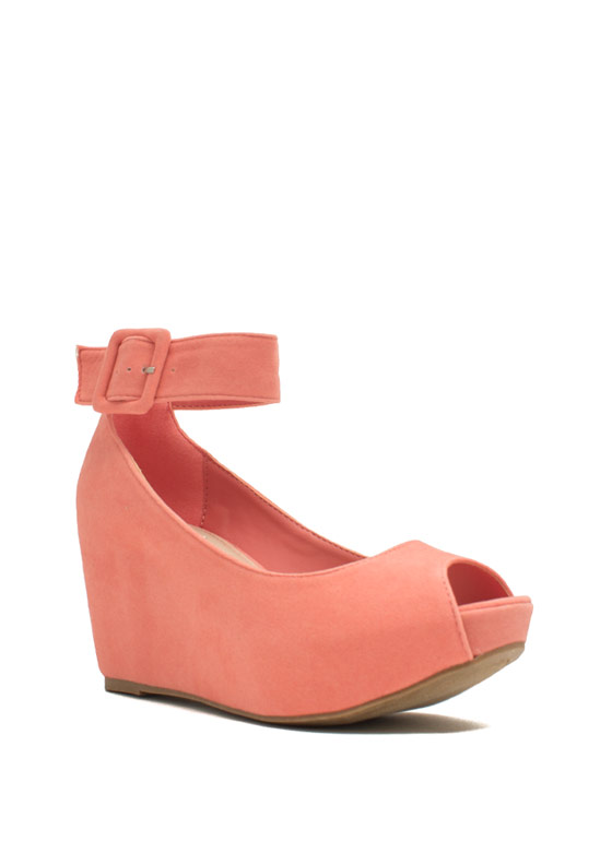 True To Platform Ankle Cuff Wedges MELON