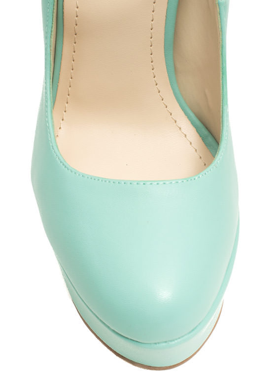 Go Mary Jane Faux Leather Platforms MINT