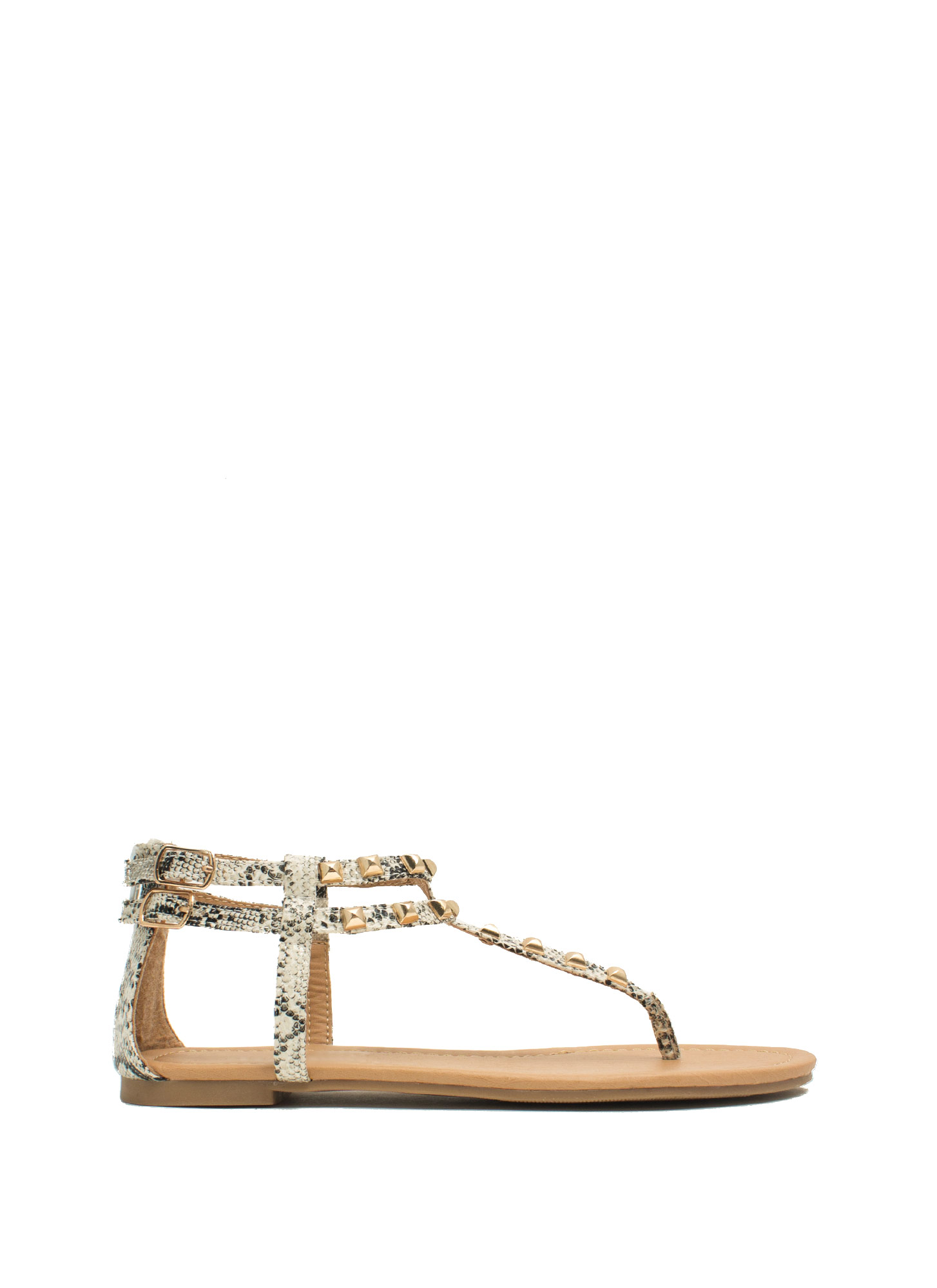 You're A Stud Thong Sandals WHITE