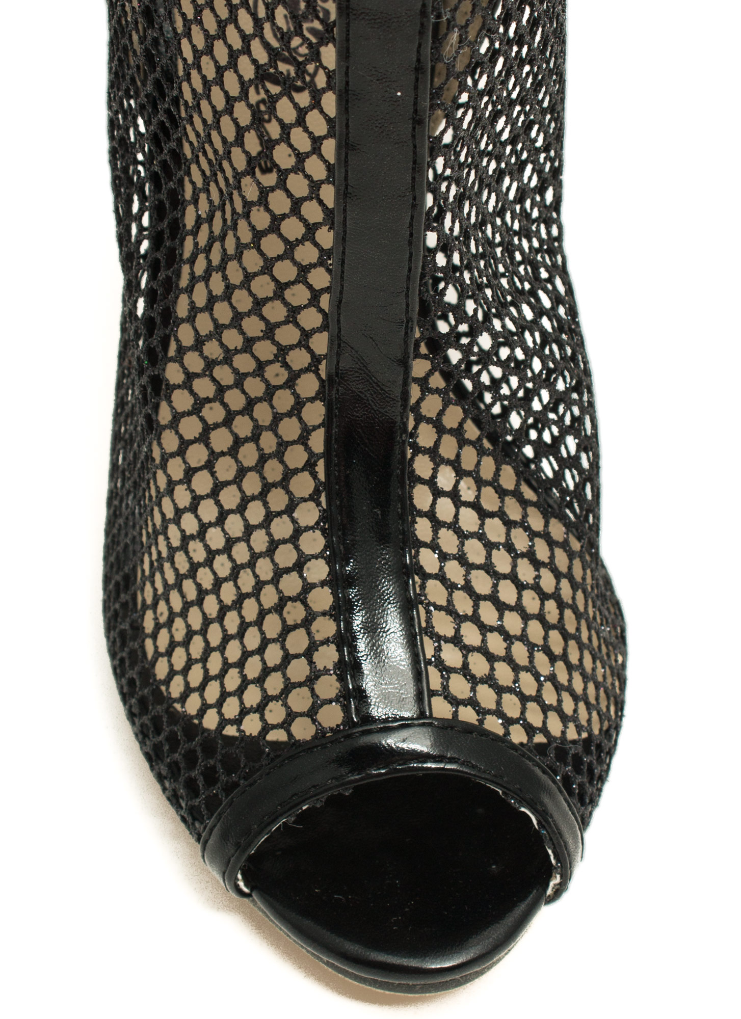 Nothing But Net Mesh Booties BLACK