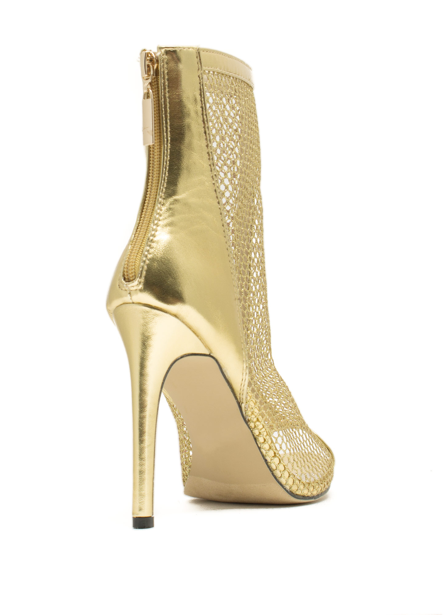 Nothing But Net Mesh Booties GOLD