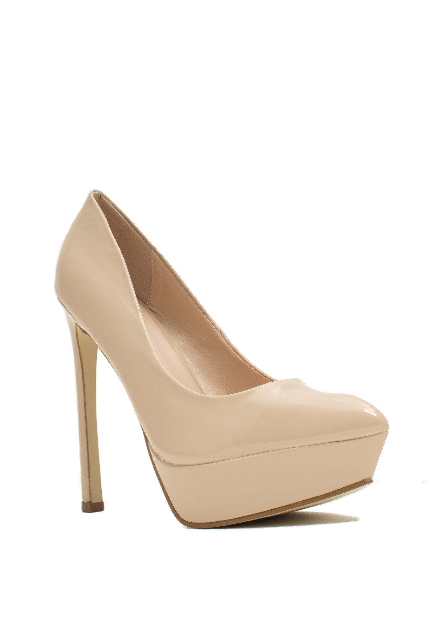 Point The Way Faux Patent Platforms NUDE