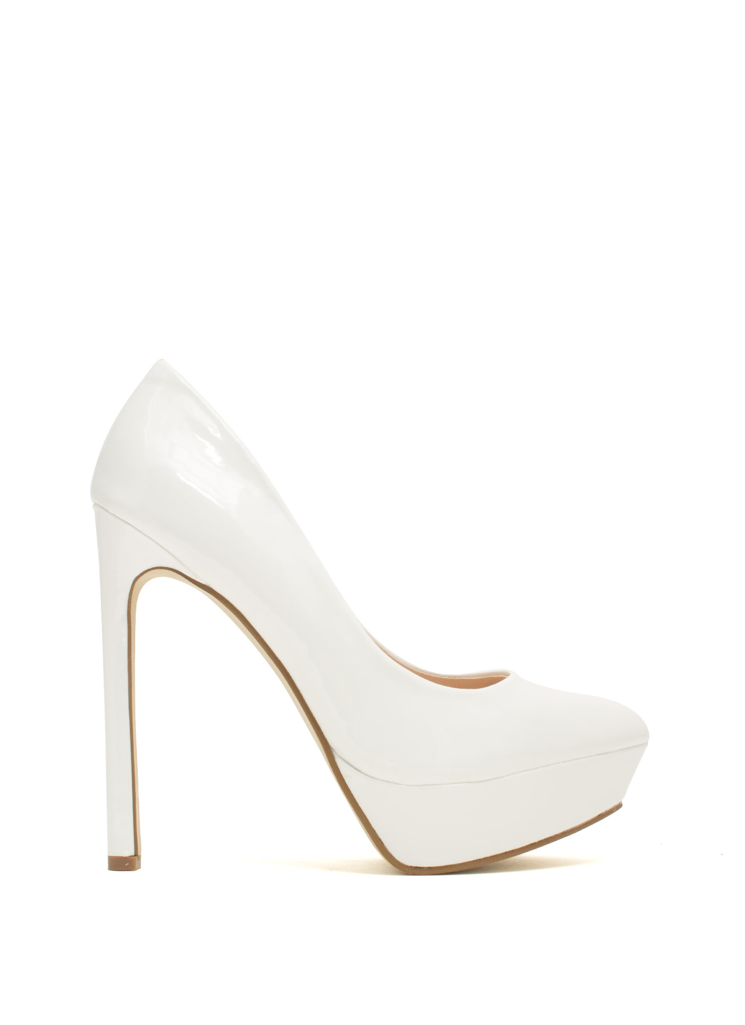 Point The Way Faux Patent Platforms WHITE