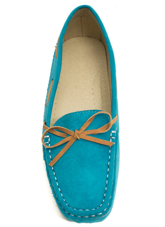 Faux Suede Driving Moccasin Flats MINT