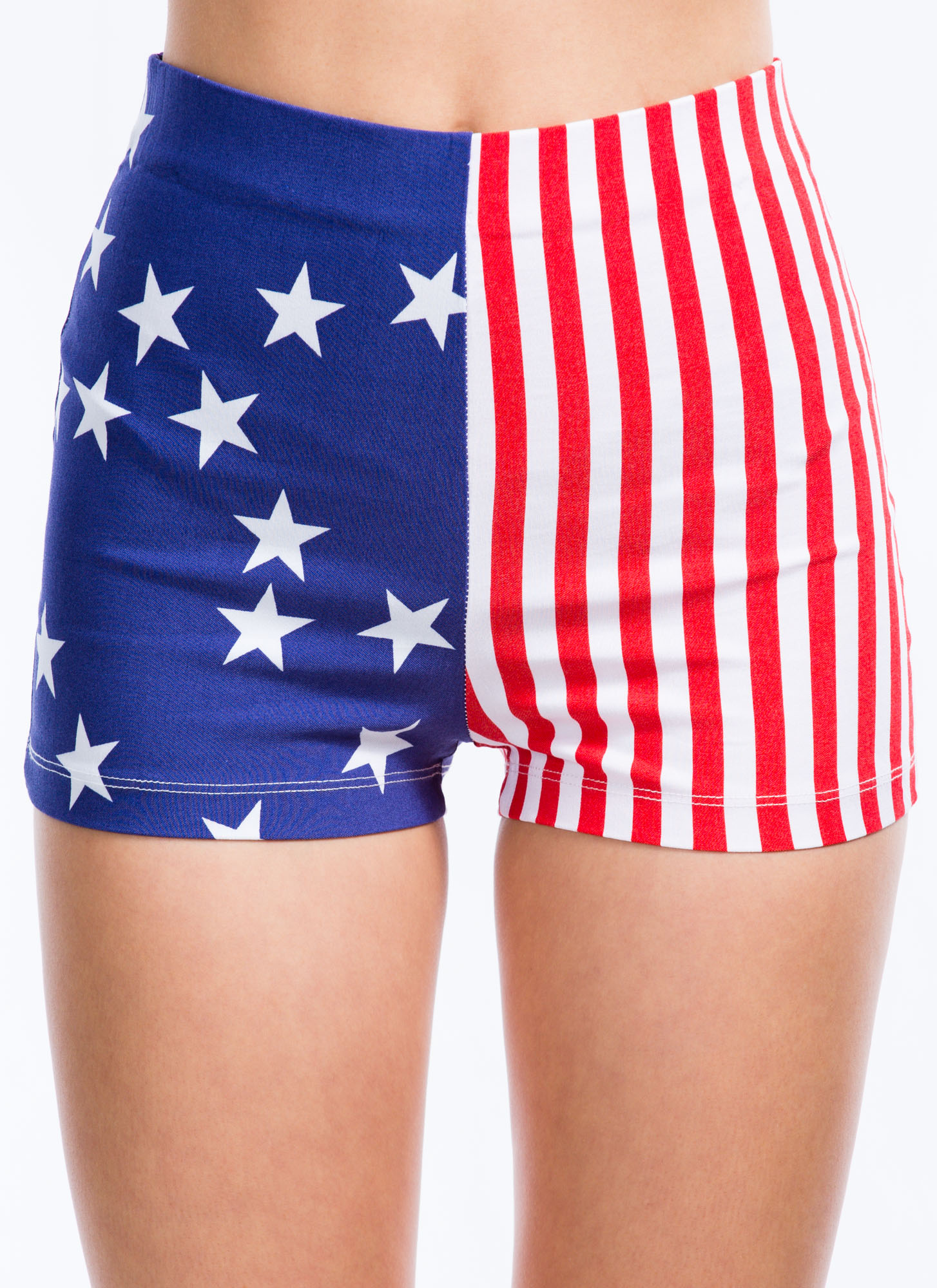 Flagged Down Stars And Stripes Shorts REDBLUE