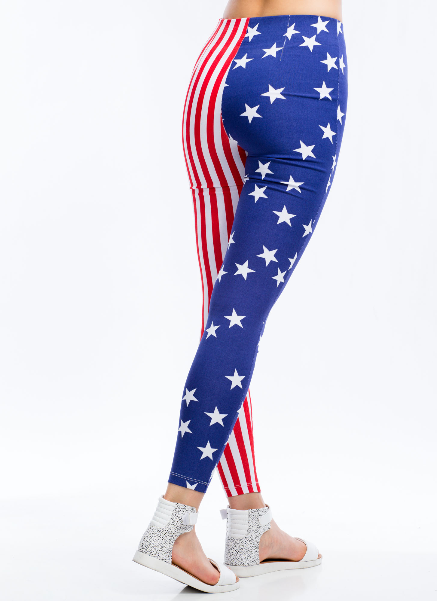 Flagged Down Stars And Stripes Pants BLUEWHITE