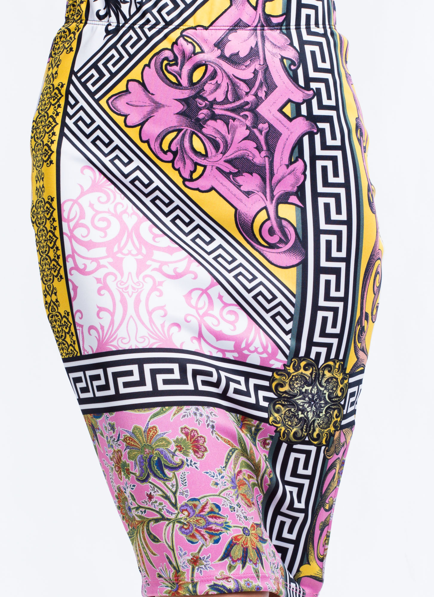 Baroque Babe Pencil Skirt PINK