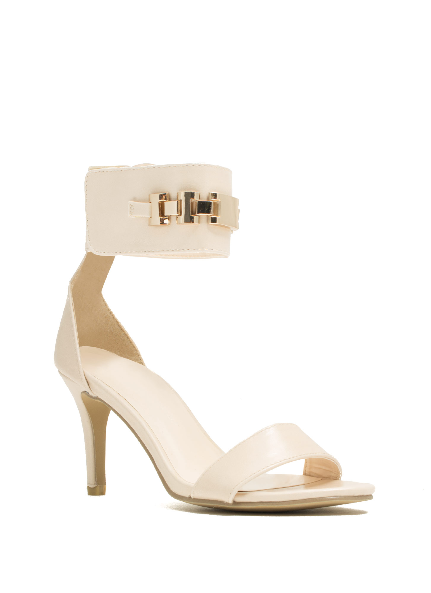 Show Your ID Chain Heels BEIGE
