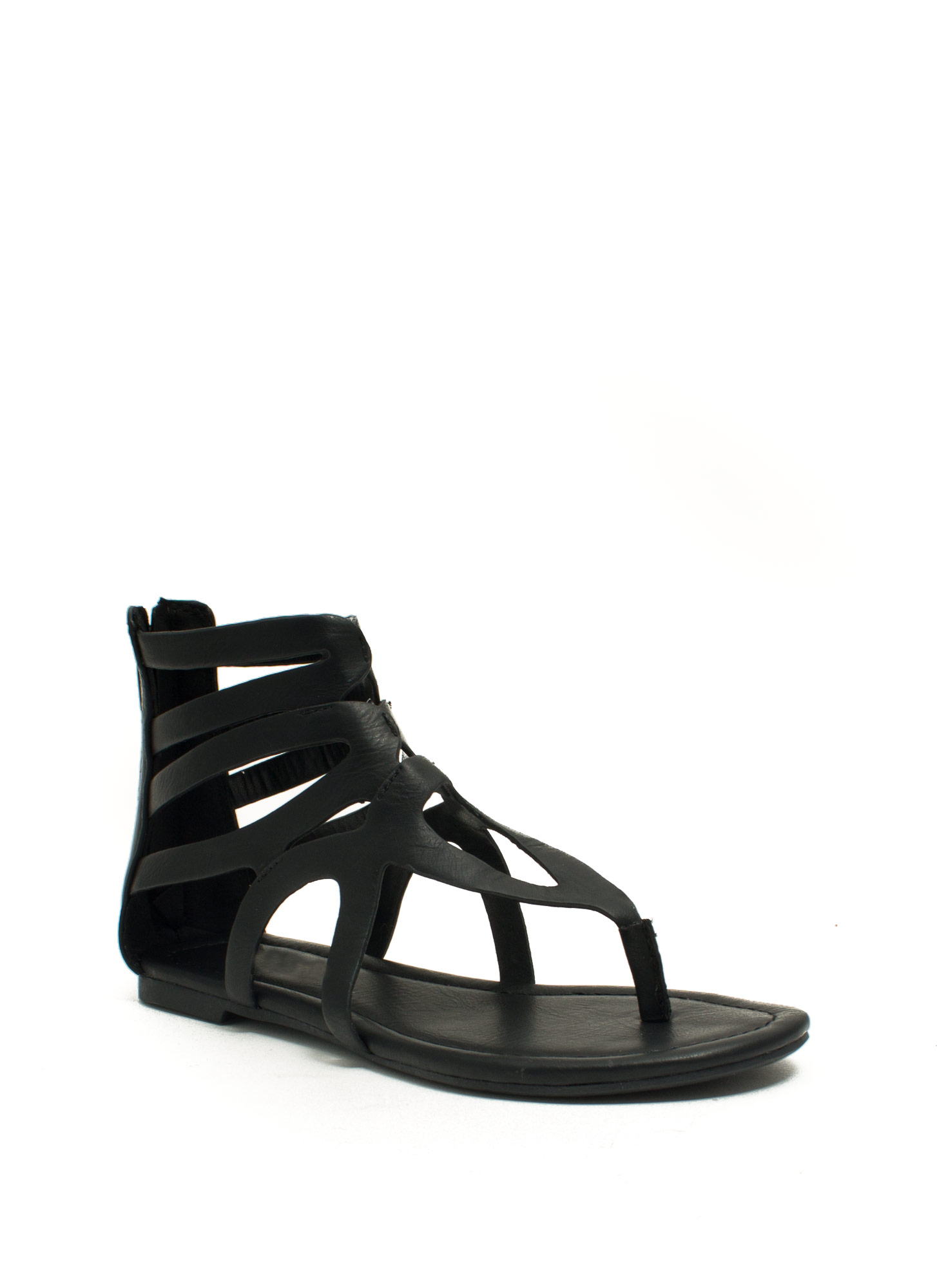 Tear It Up Gladiator Sandals BLACK