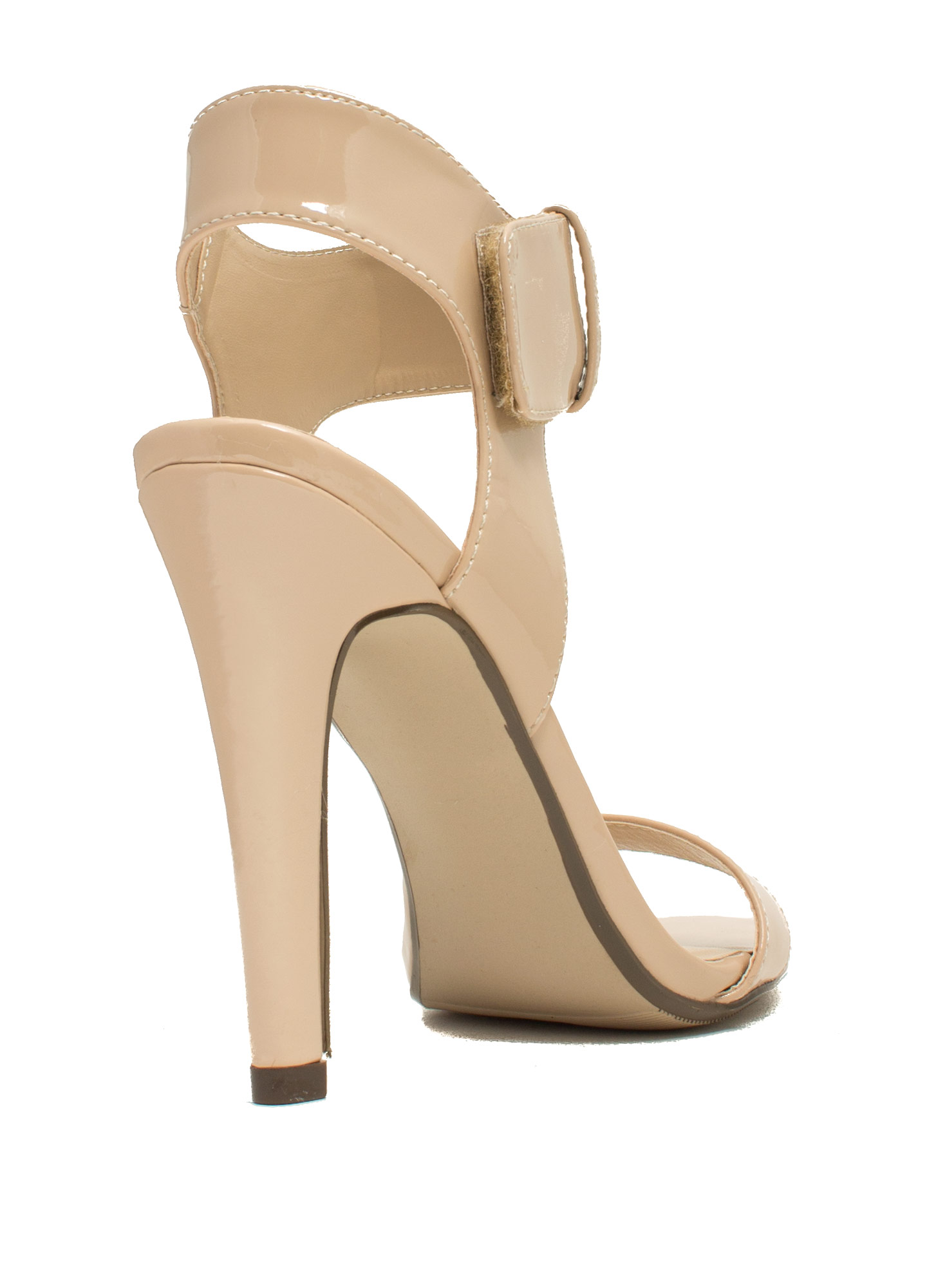Minimal Cuff Single-Sole Heels NATURAL
