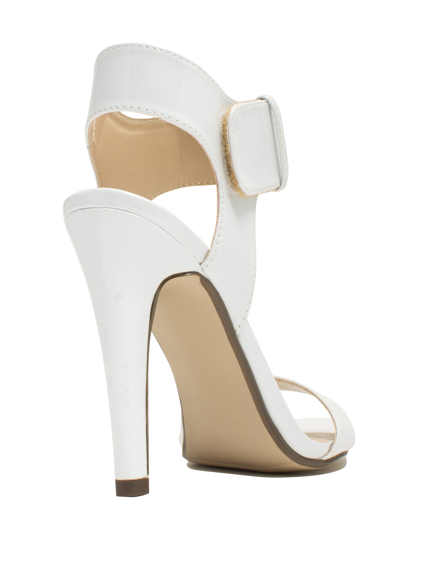 Minimal Cuff Single-Sole Heels WHITE