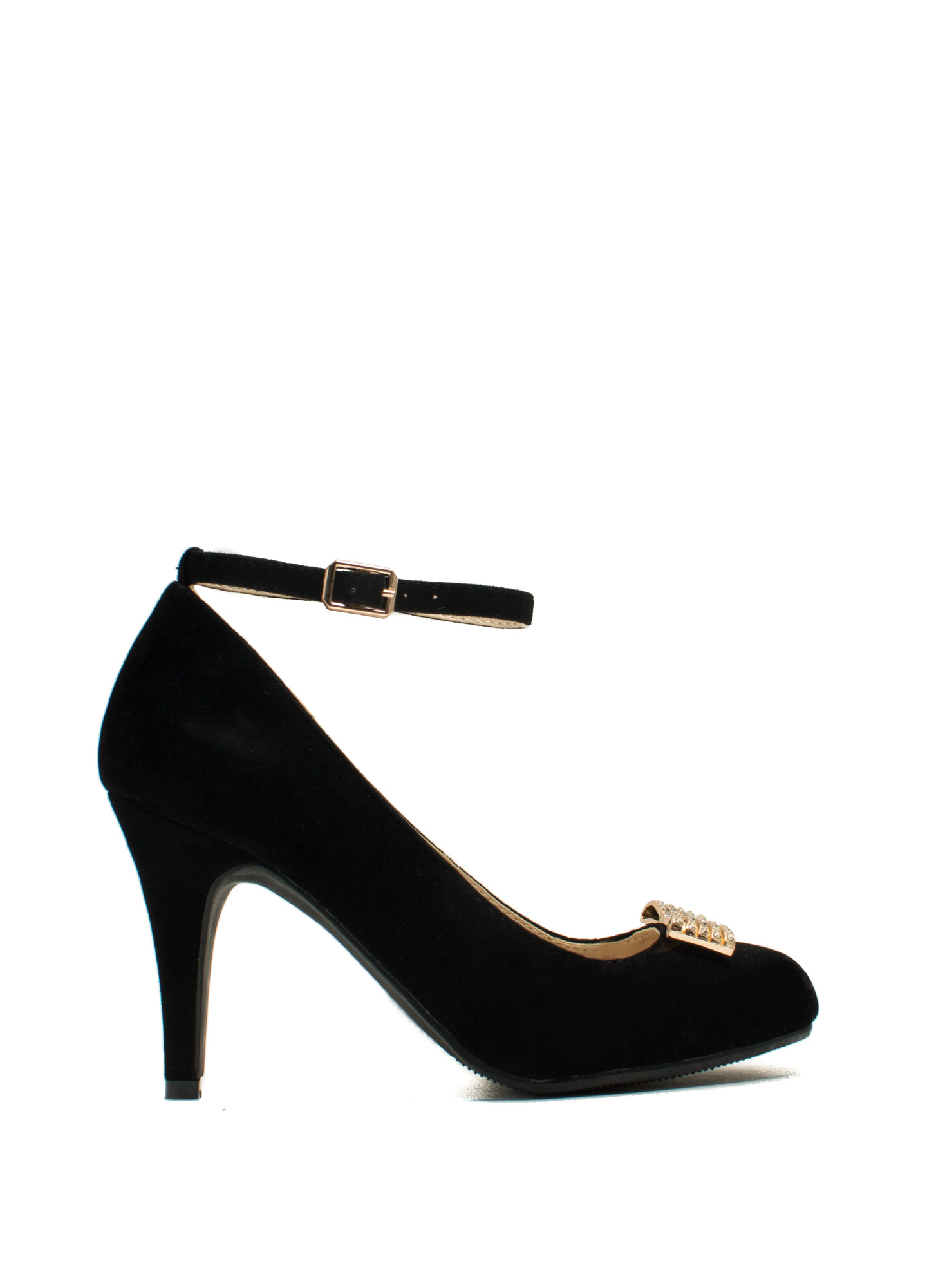 Reap What You Bow Stiletto Heels BLACK