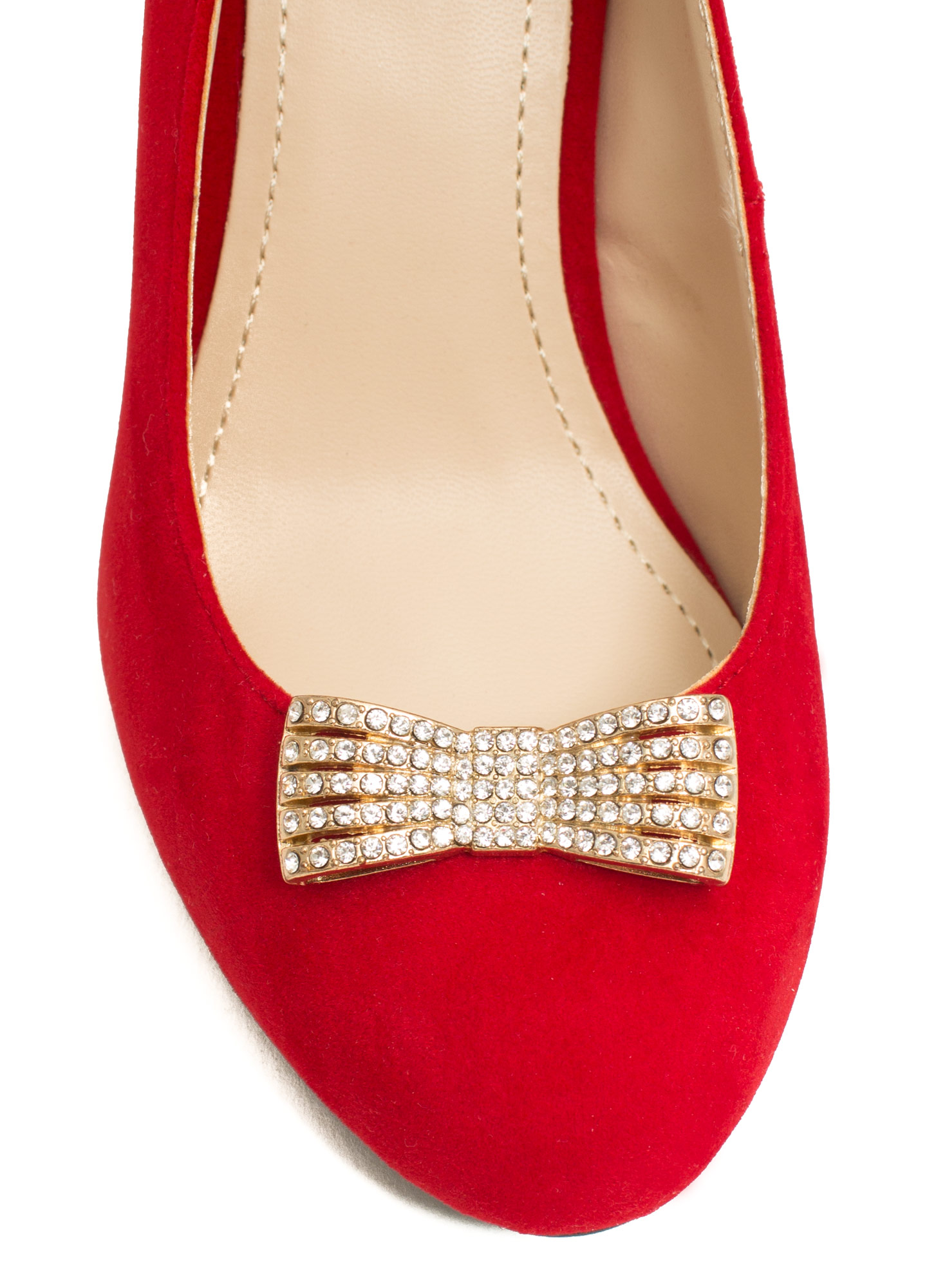 Reap What You Bow Stiletto Heels RED