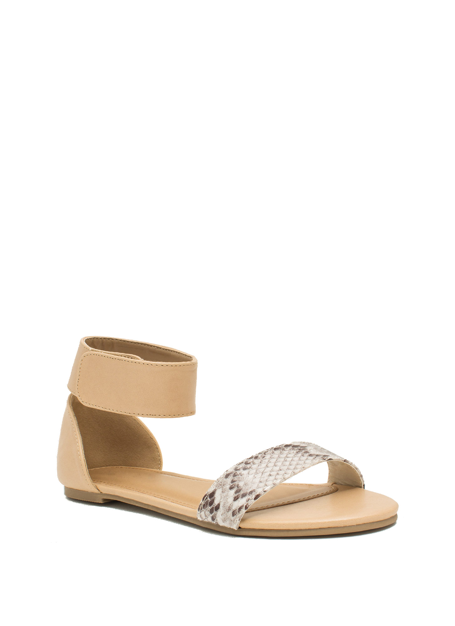 Ready To Mingle Single-Strap Sandals NATURAL