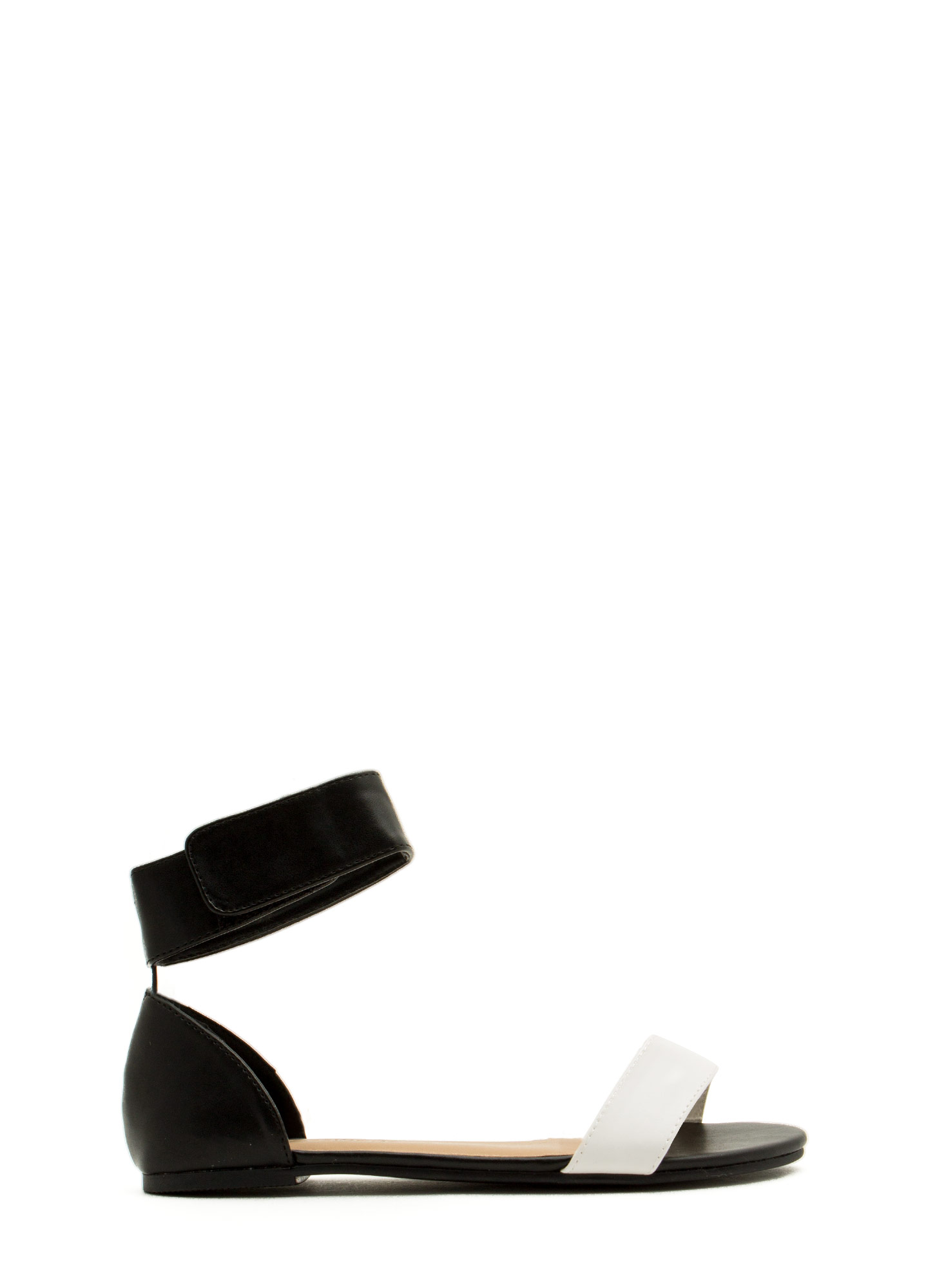 Ready To Mingle Single-Strap Sandals WHITEBLACK