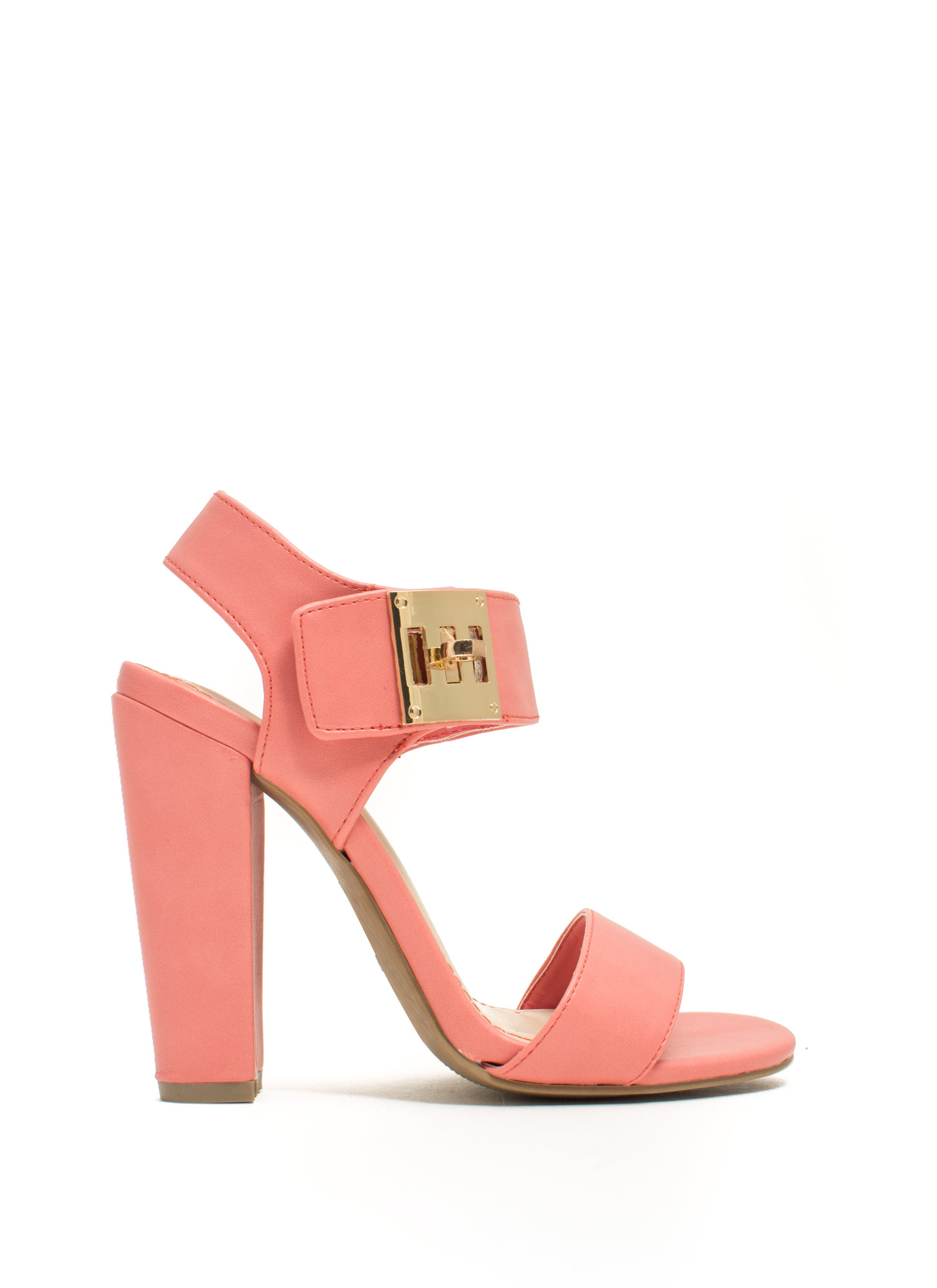 Chunky Twist Lock Heels MELON