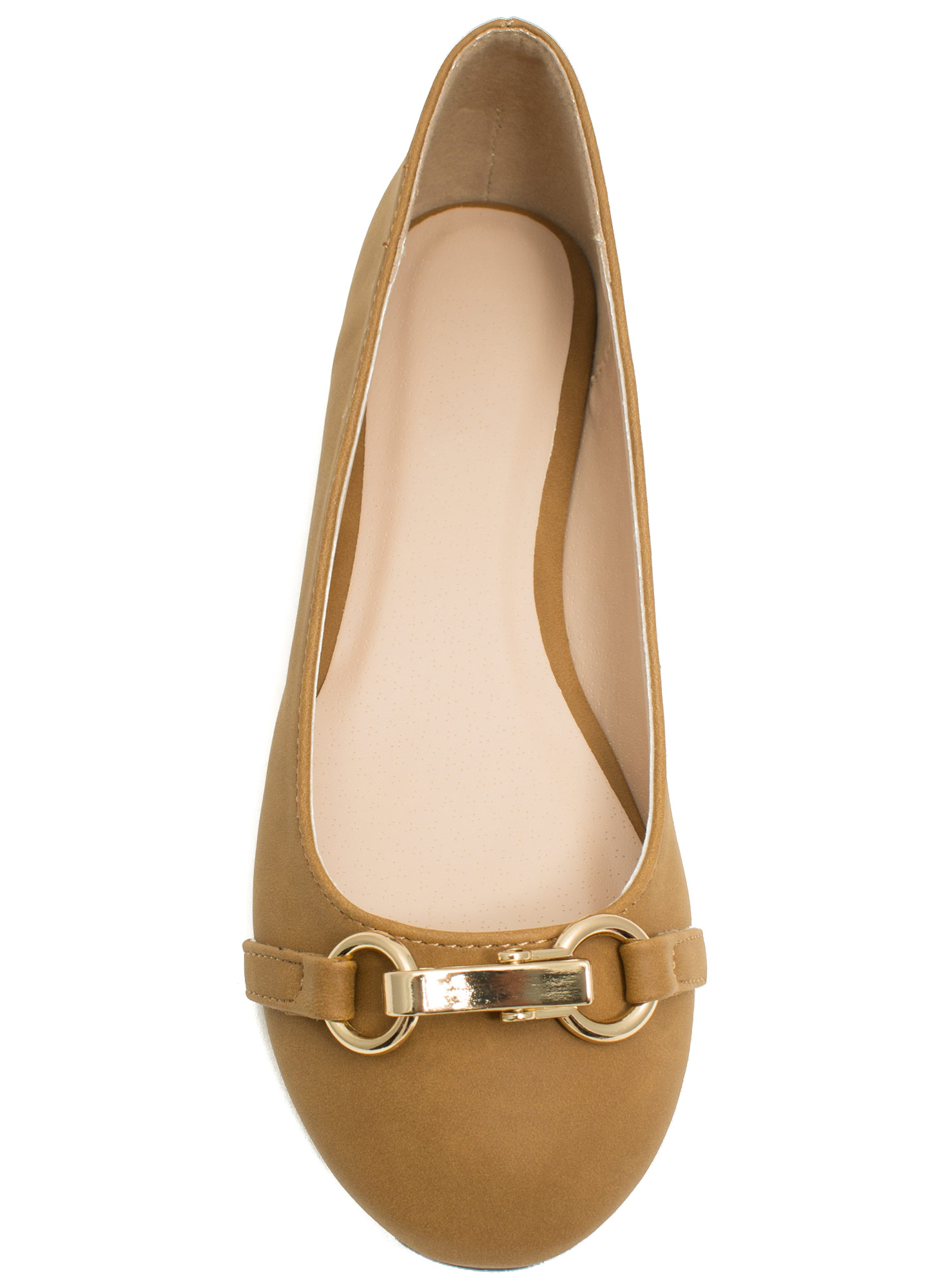 Nine To Five Faux Nubuck Flats CAMEL