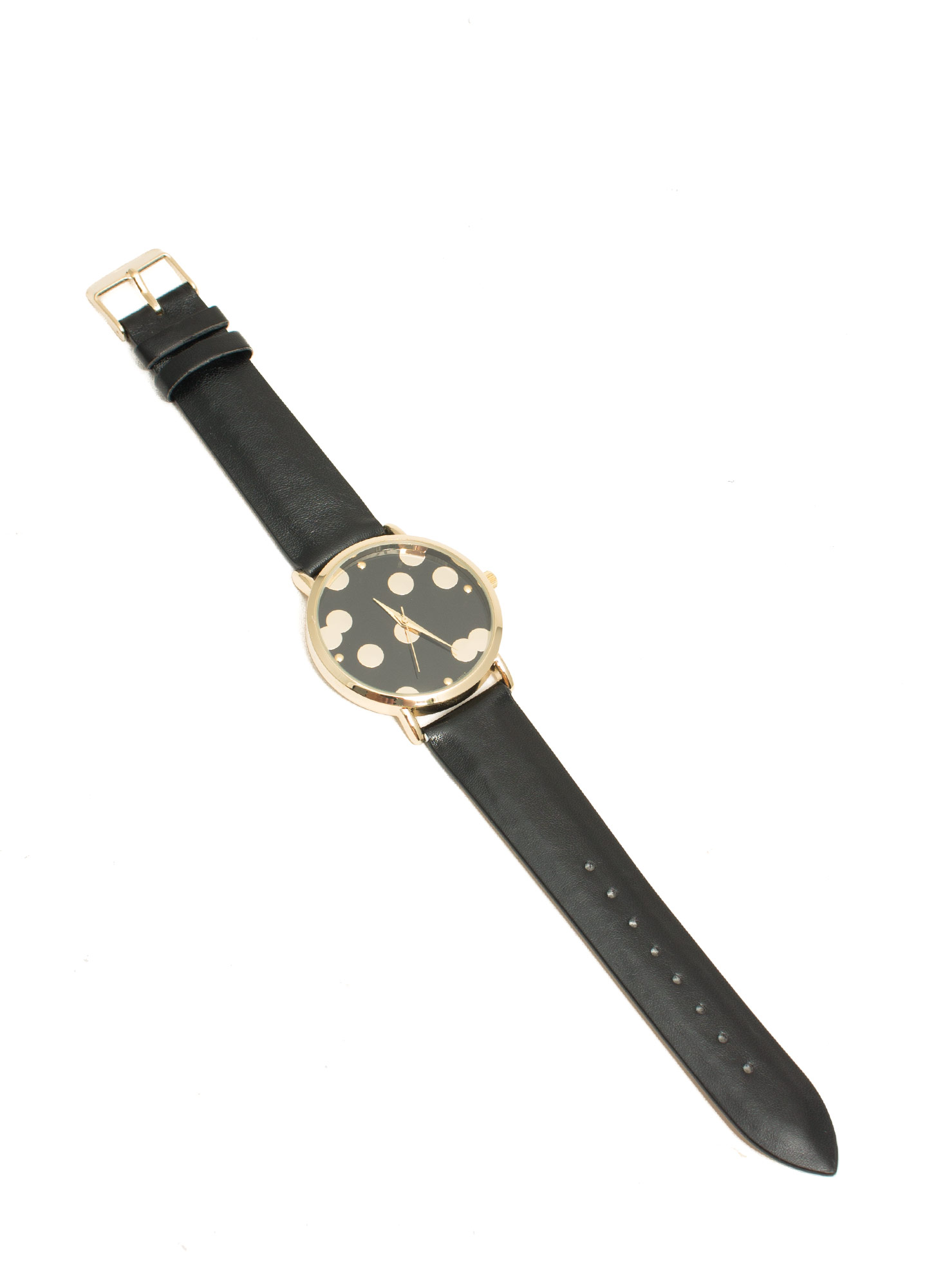 Scattered Polka Dot Boyfriend Watch BLACKGOLD