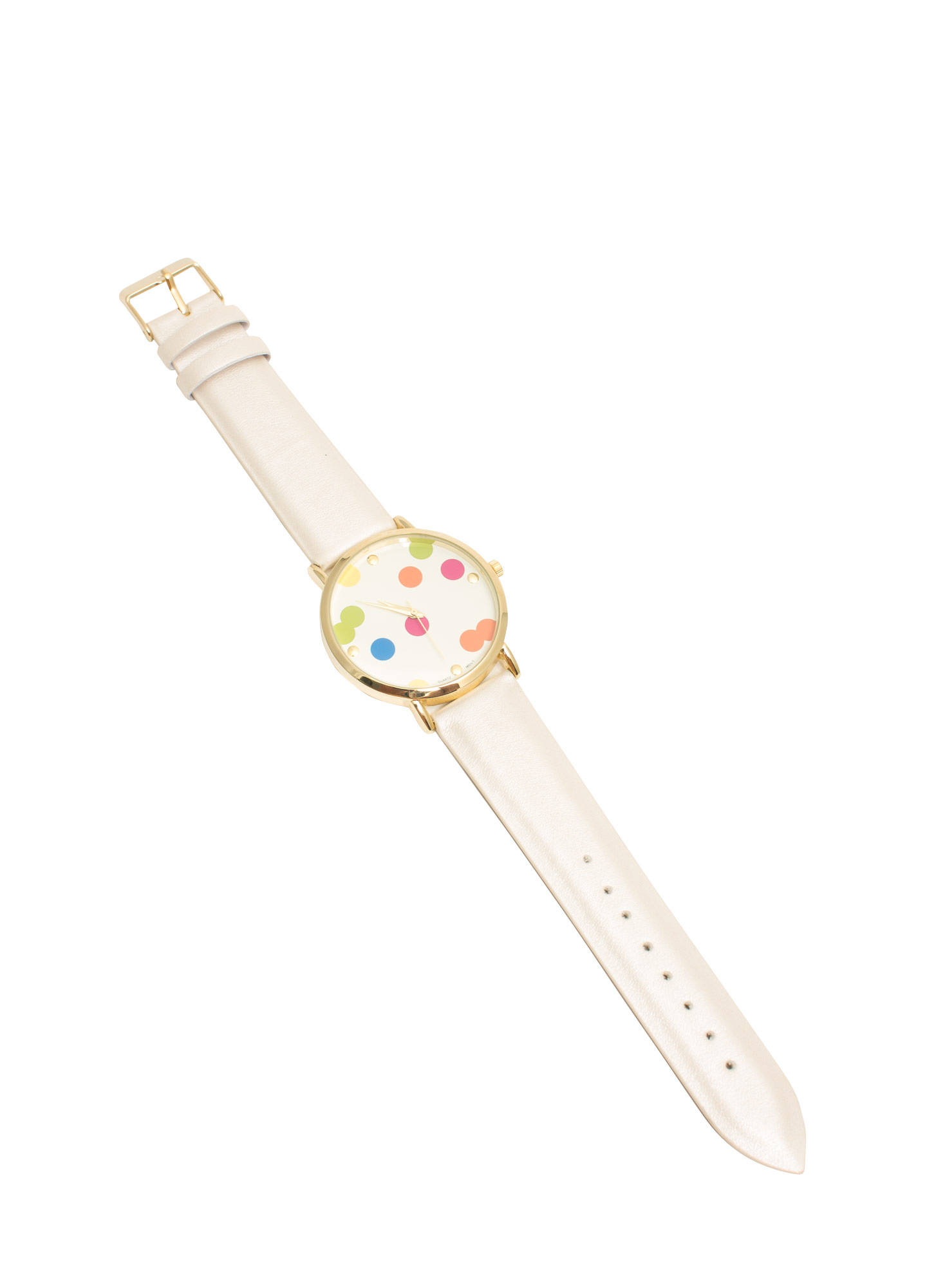 Scattered Polka Dot Boyfriend Watch IVORYMULTI
