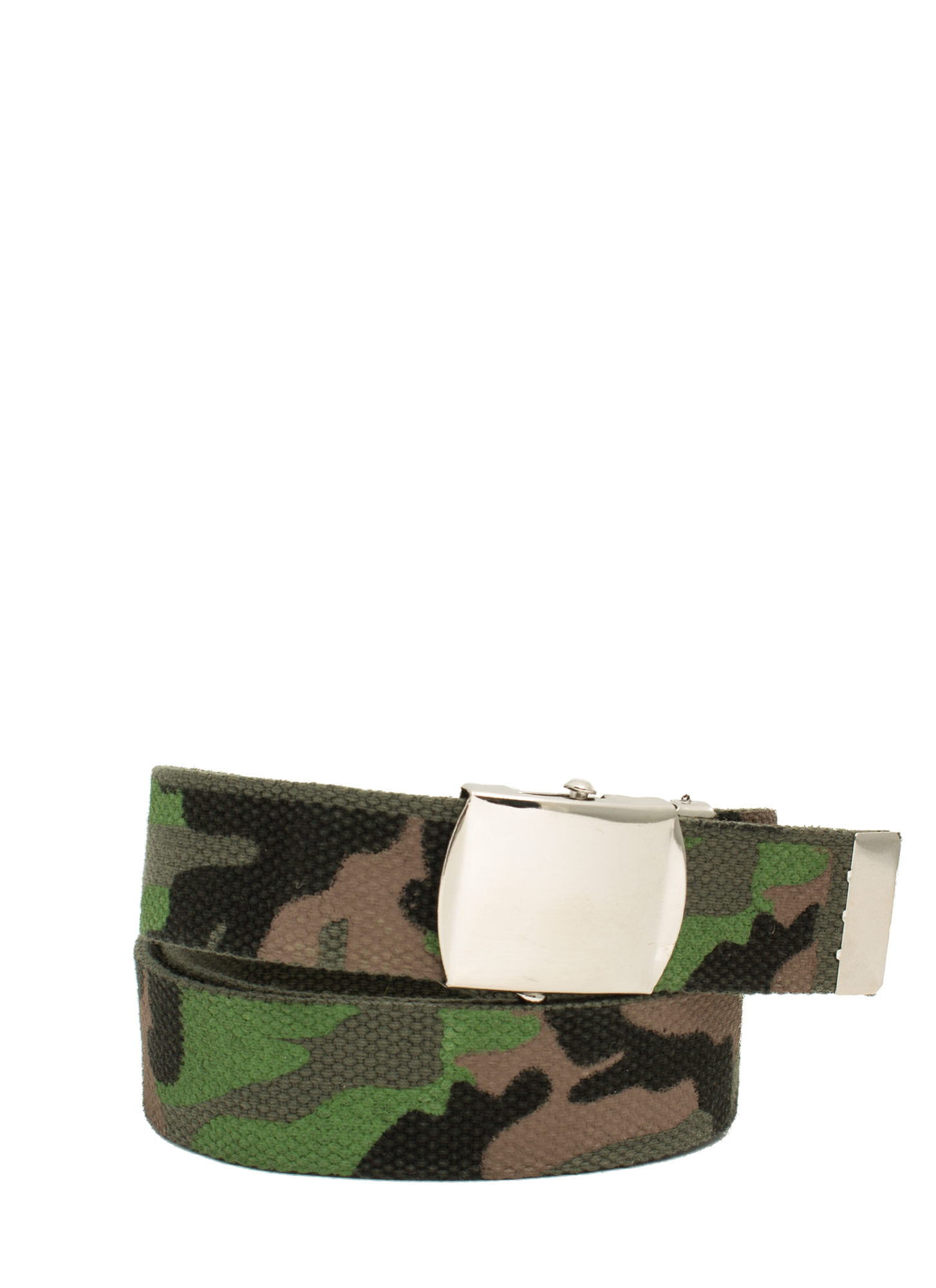 Painted Camouflage Print Canvas Belt CAMO