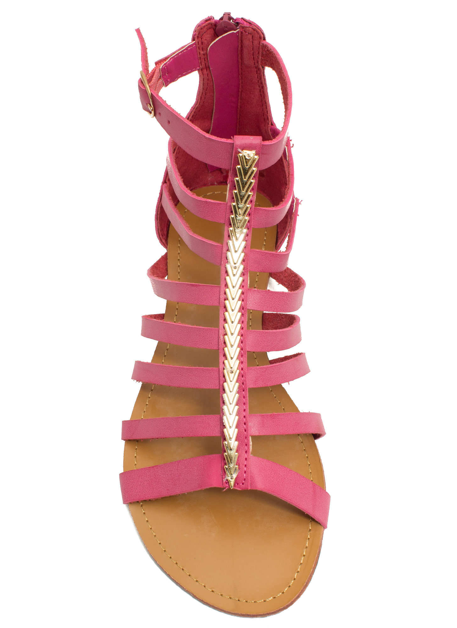 Metallic Touch Gladiator Sandals CORAL