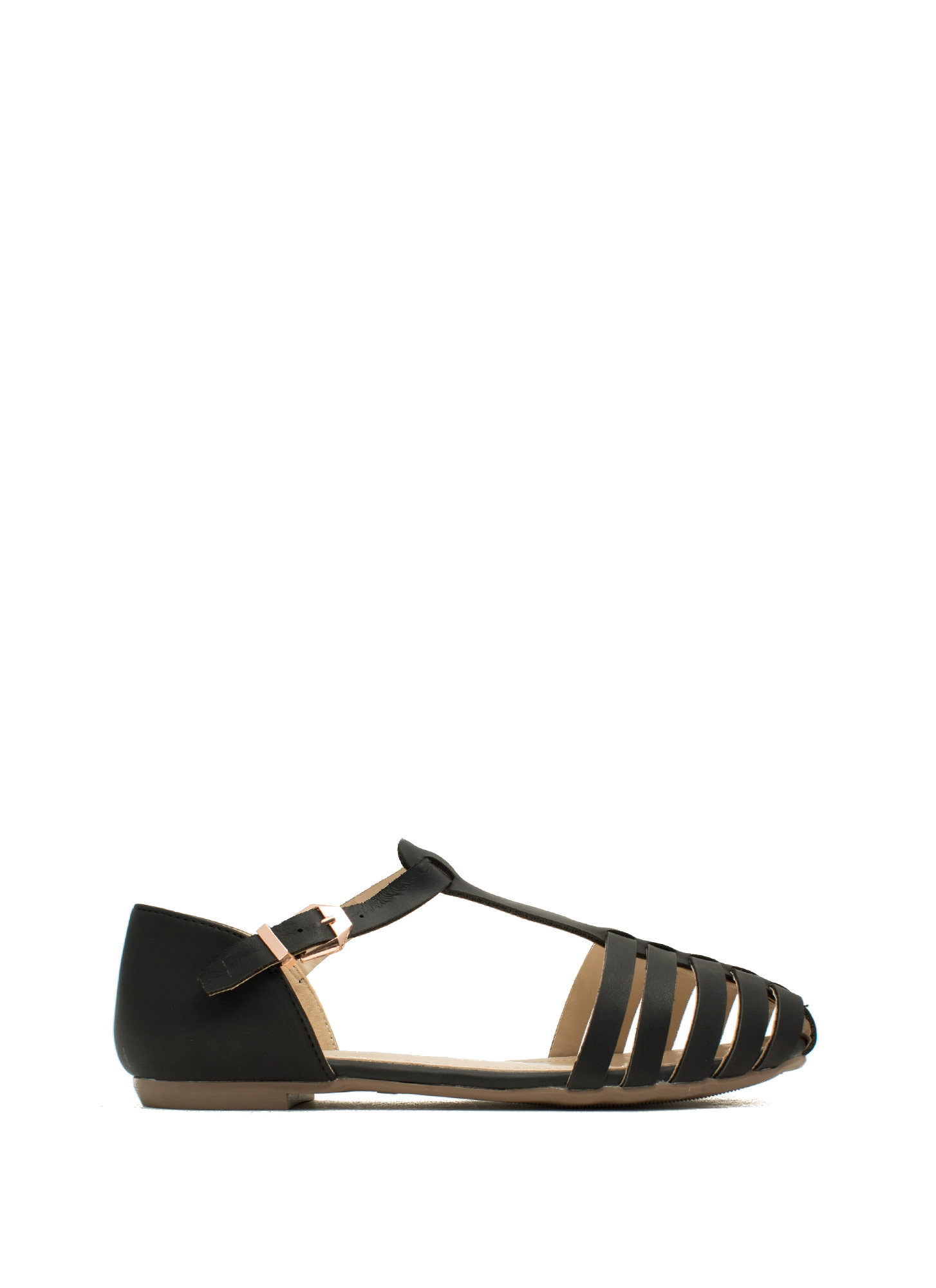 Wander Warrior T-Strap Flats BLACK
