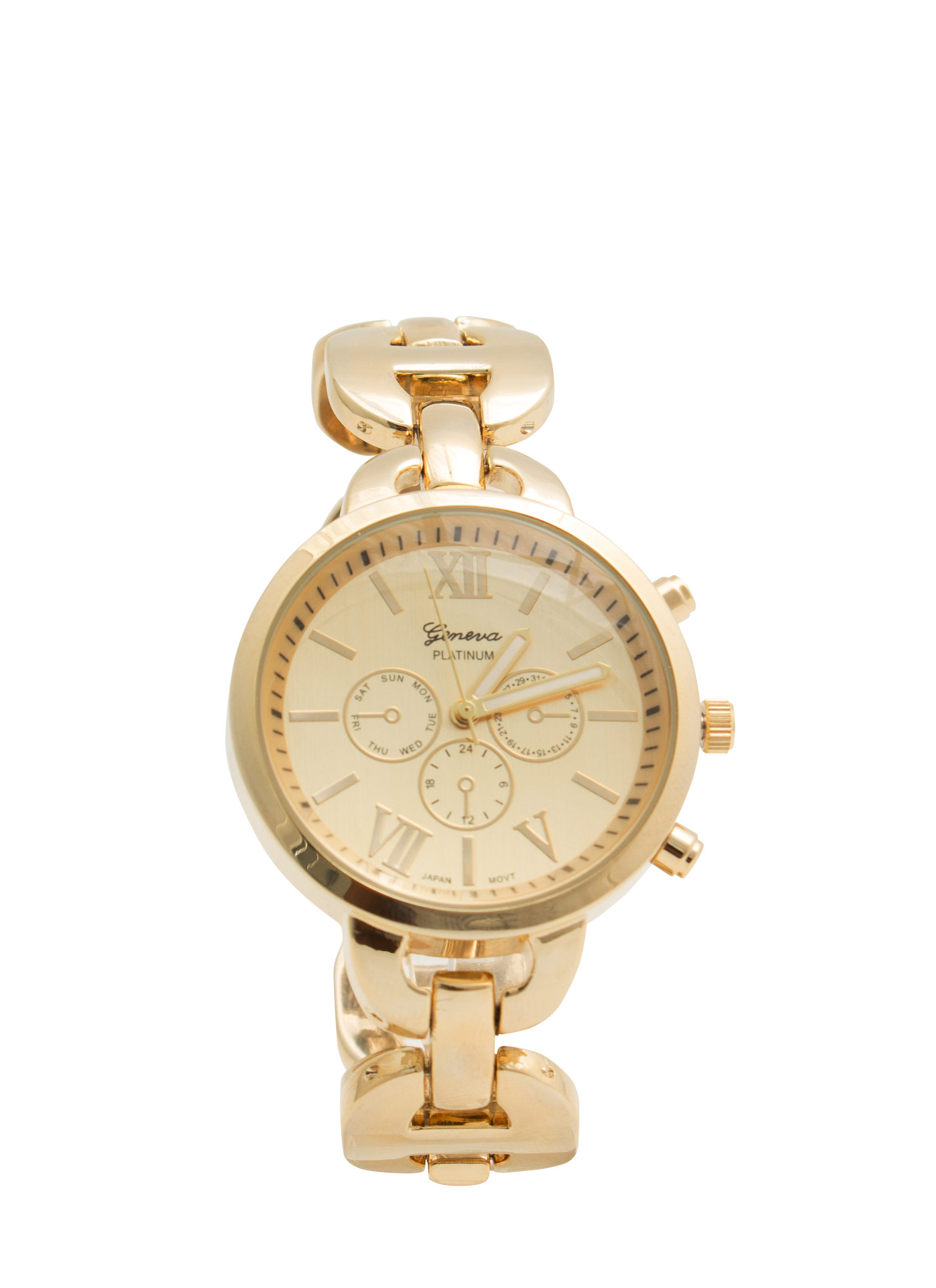 Round H-Link Shiny Boyfriend Watch GOLD