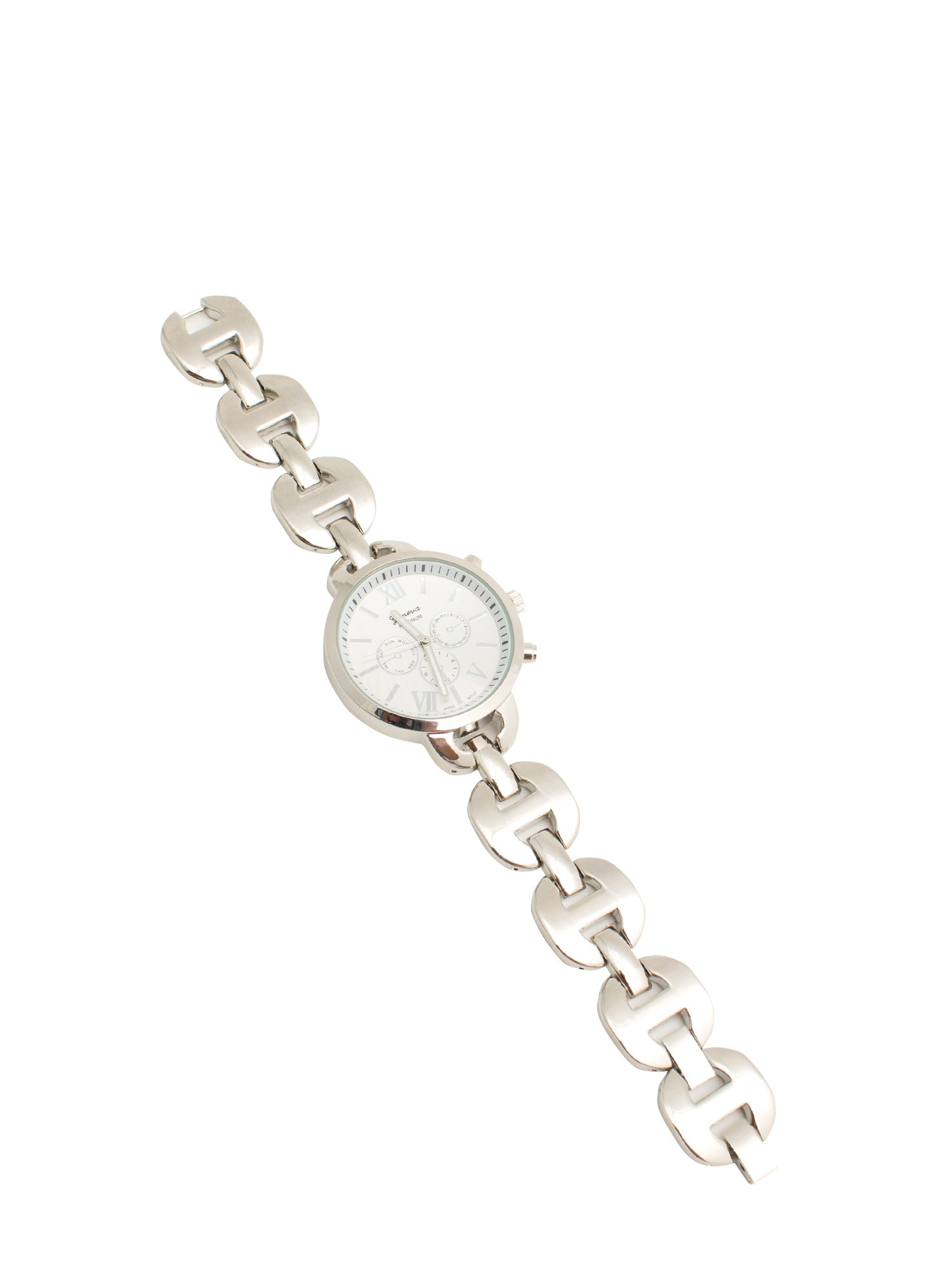 Round H-Link Shiny Boyfriend Watch SILVER