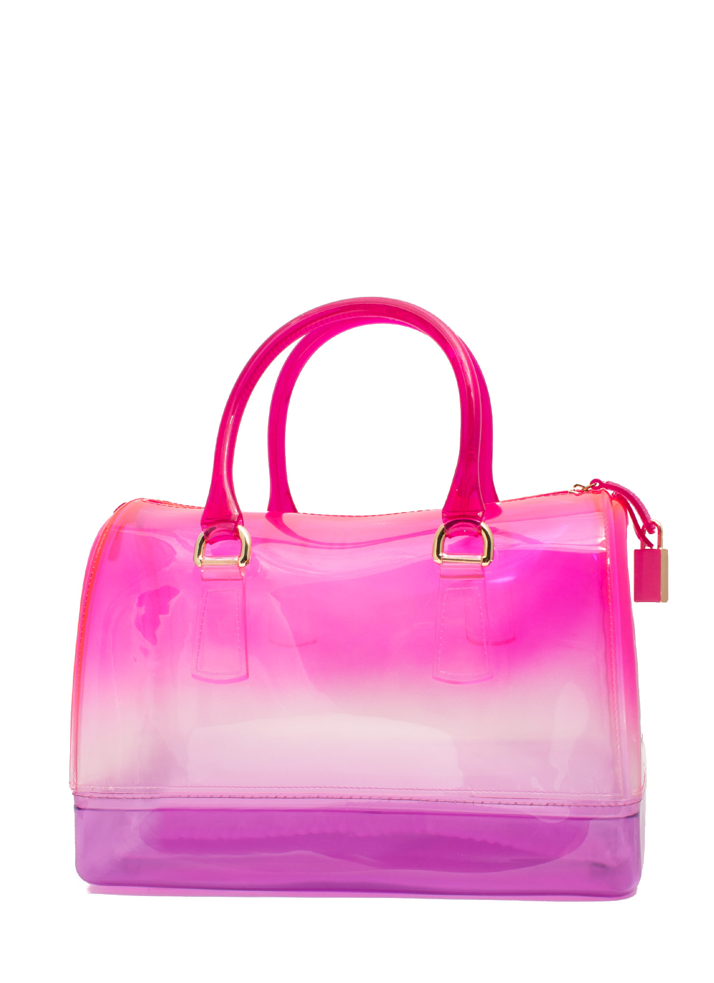 Two-Tone Jelly Bowler Bag PINK