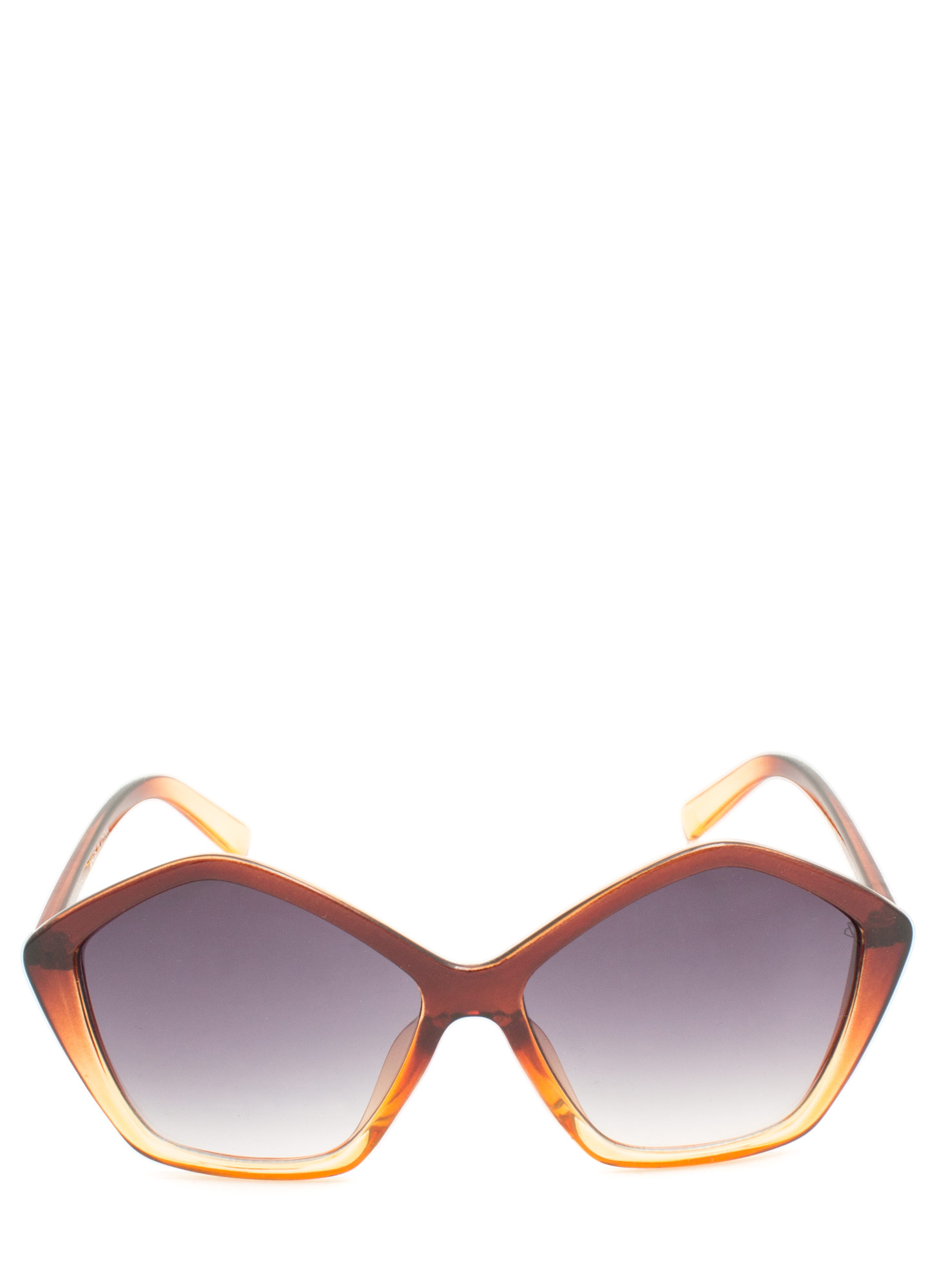 Pentagon Resin Sunglasses BROWNCLEAR