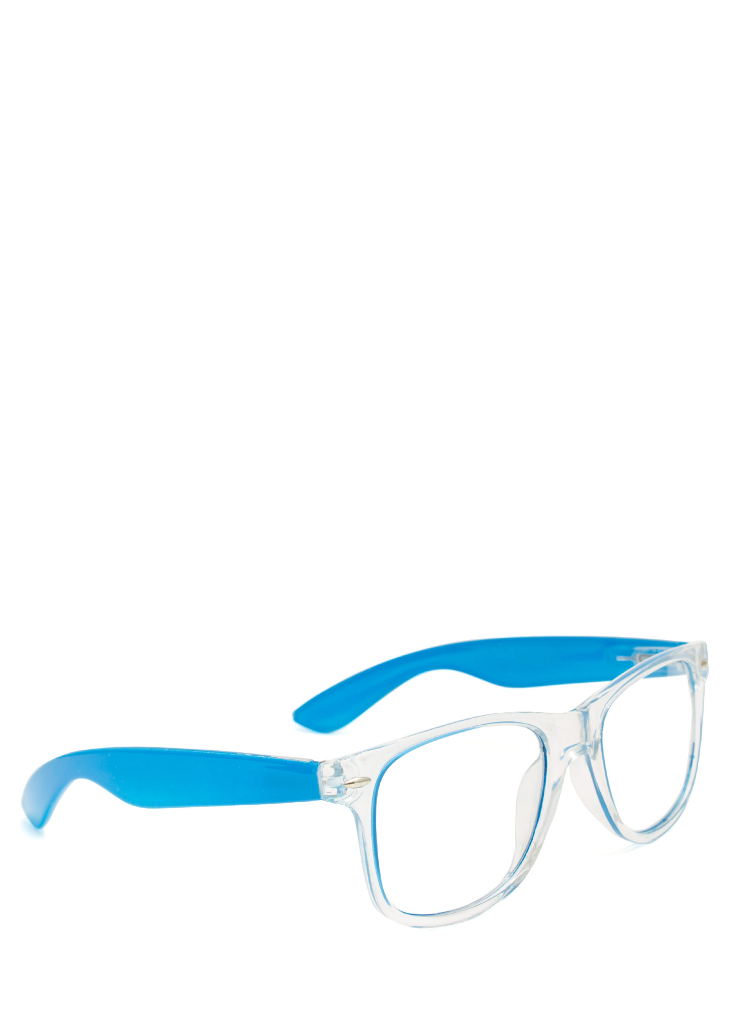 Neon N Clear Glasses BLUE
