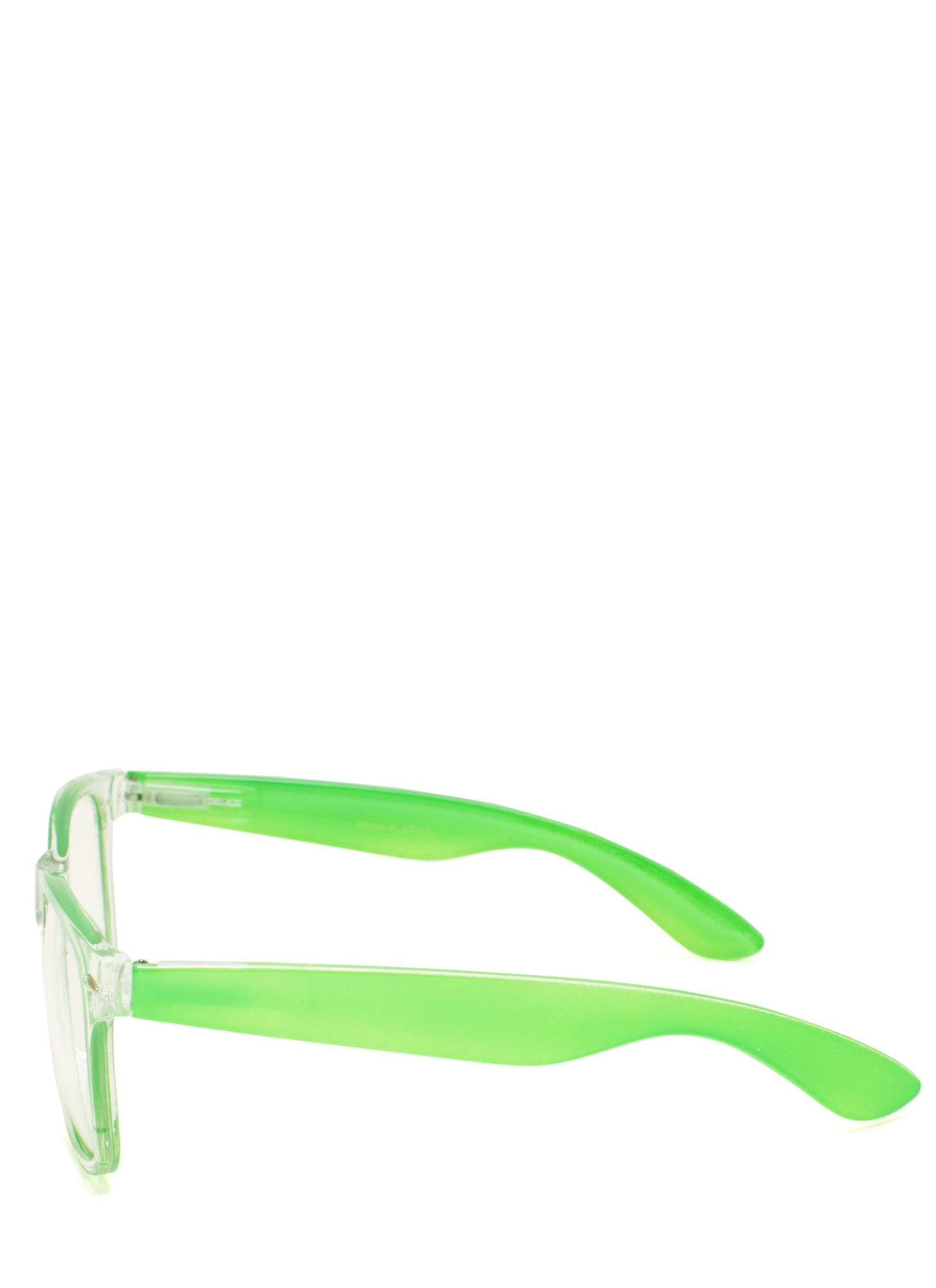 Neon N Clear Glasses LIME