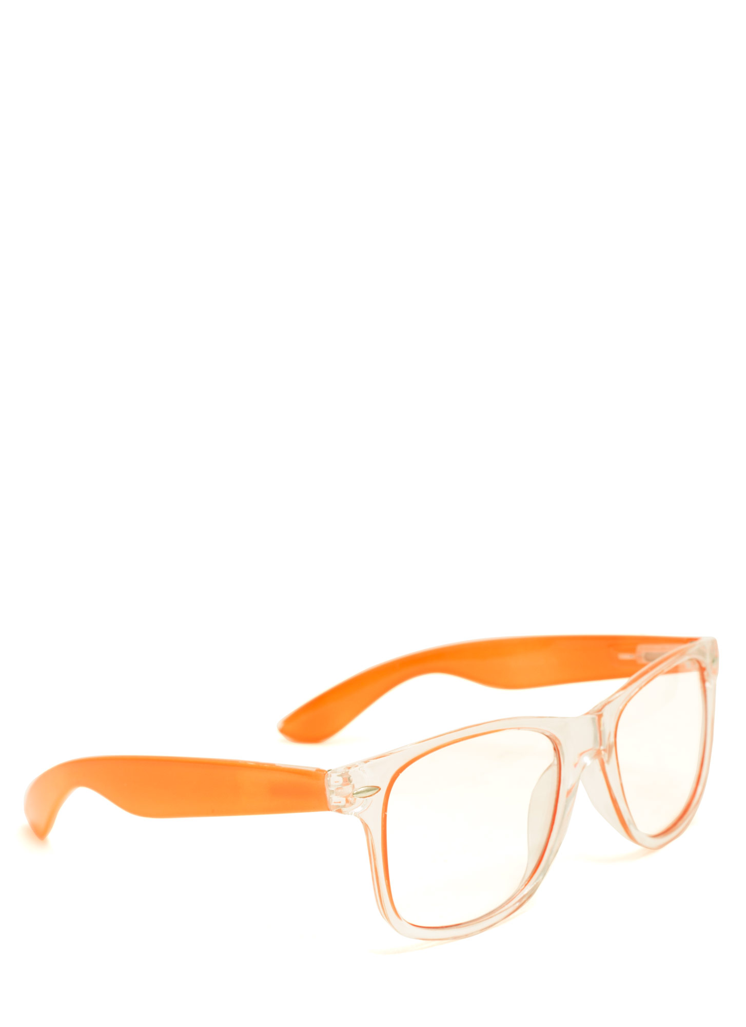 Neon N Clear Glasses ORANGE