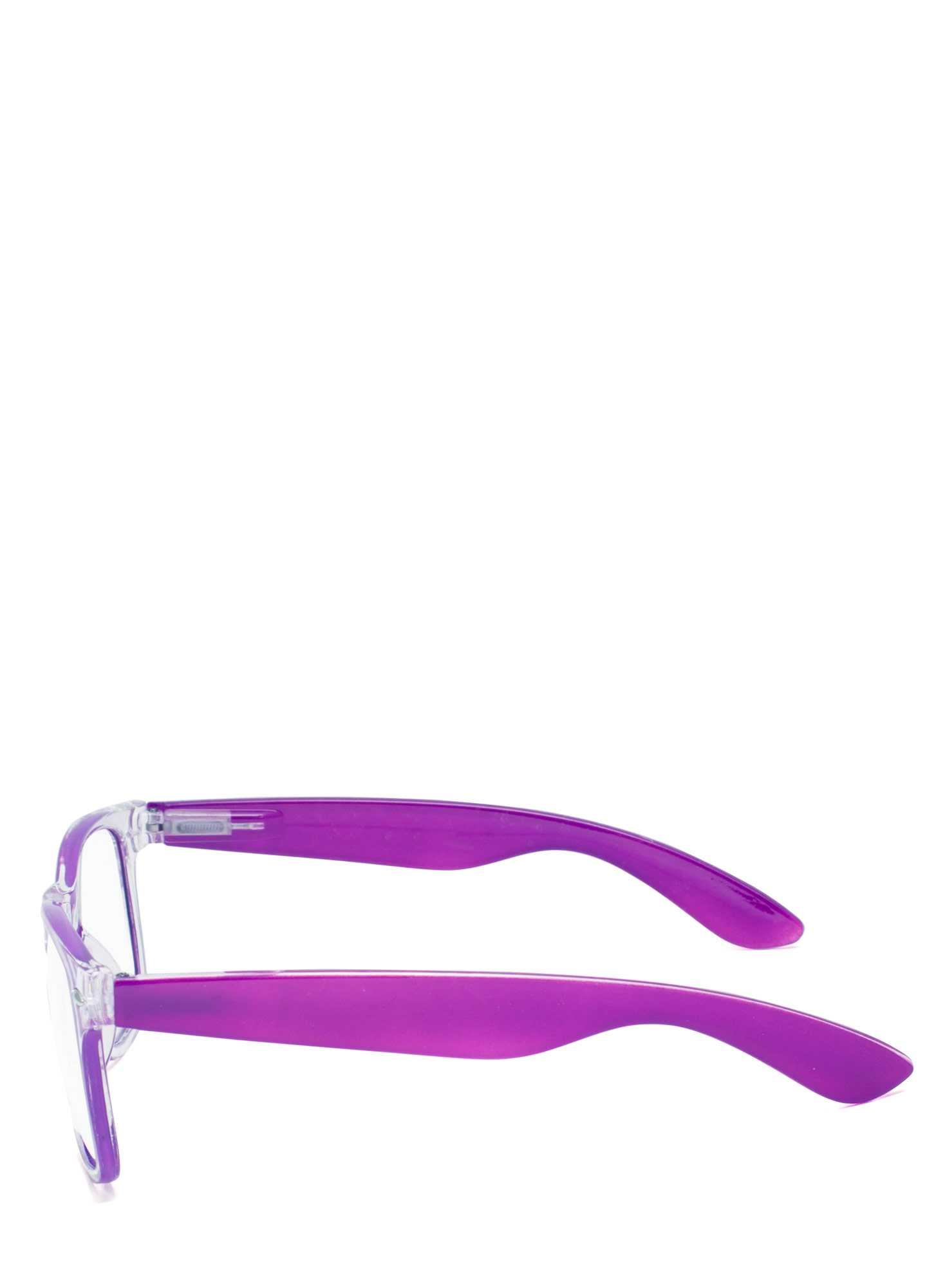 Neon N Clear Glasses PURPLE