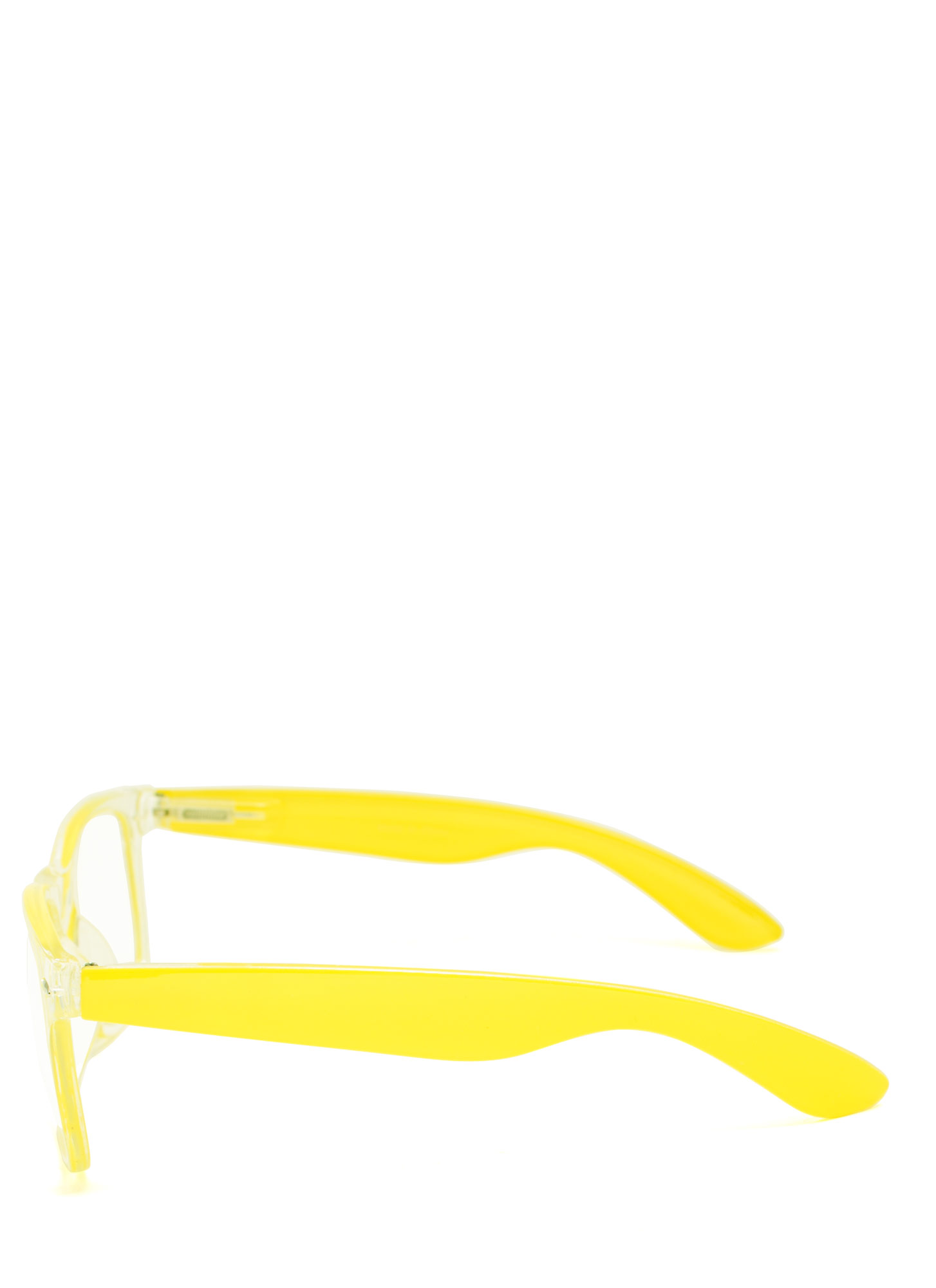 Neon N Clear Glasses YELLOW