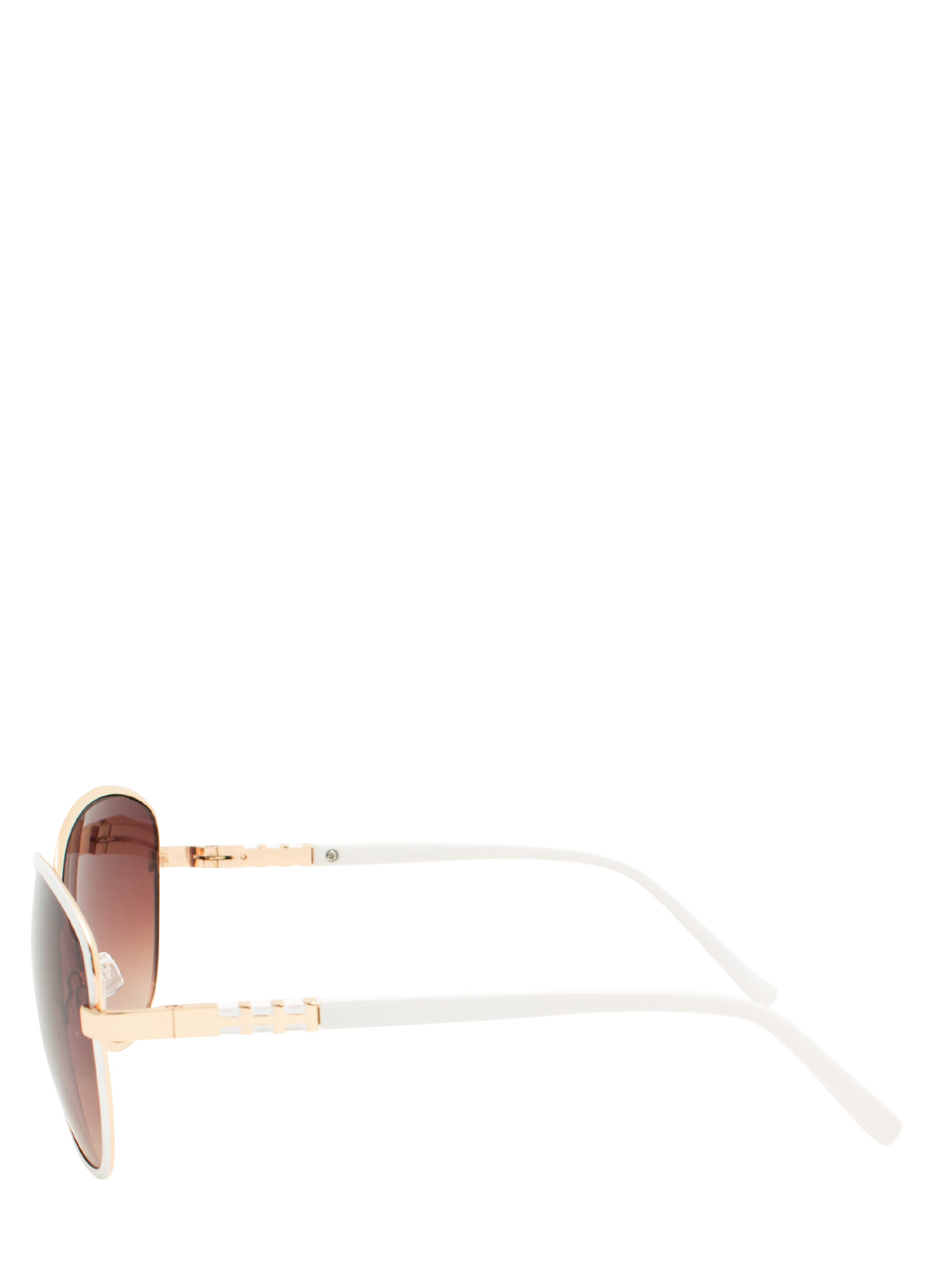 Touch Of Metallic Sunglasses WHITE